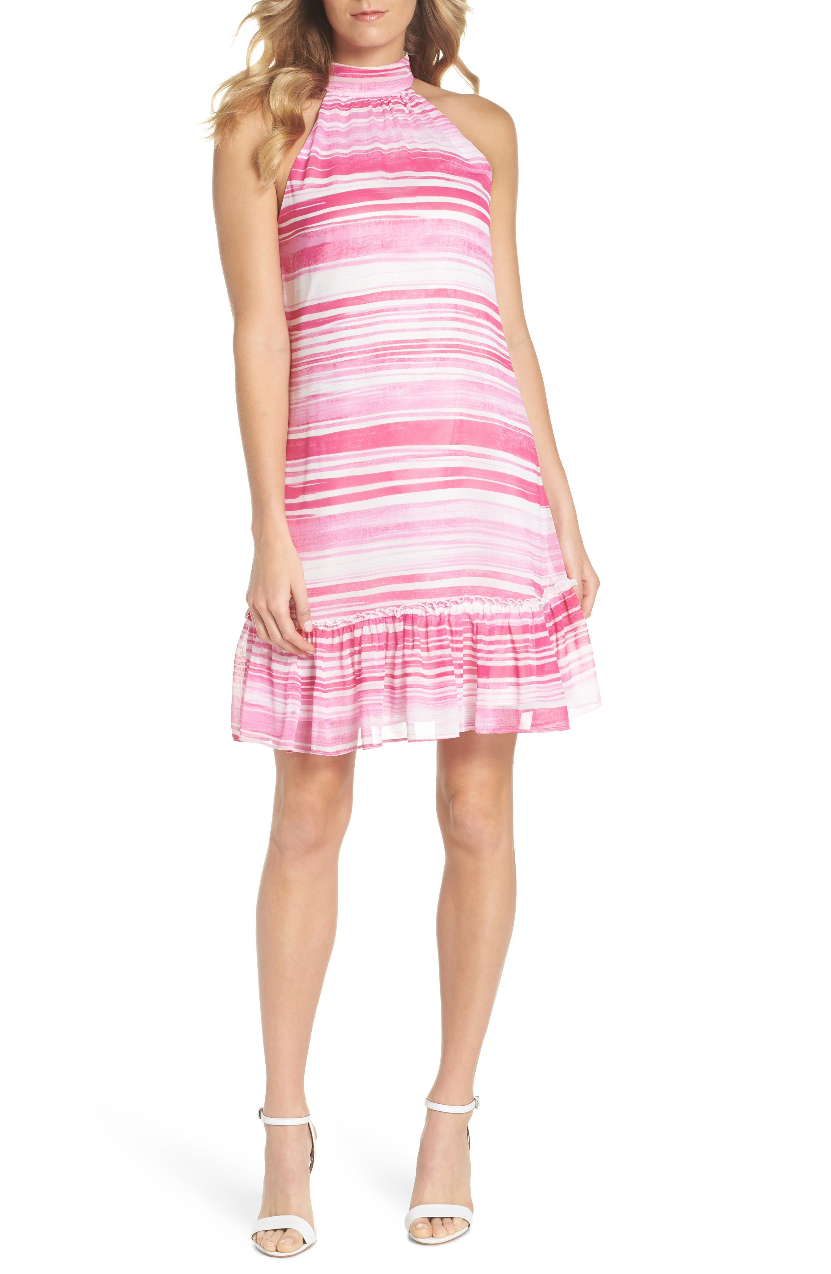 Zuri Halter Shift Dress,                         Main,                         color, Camelia