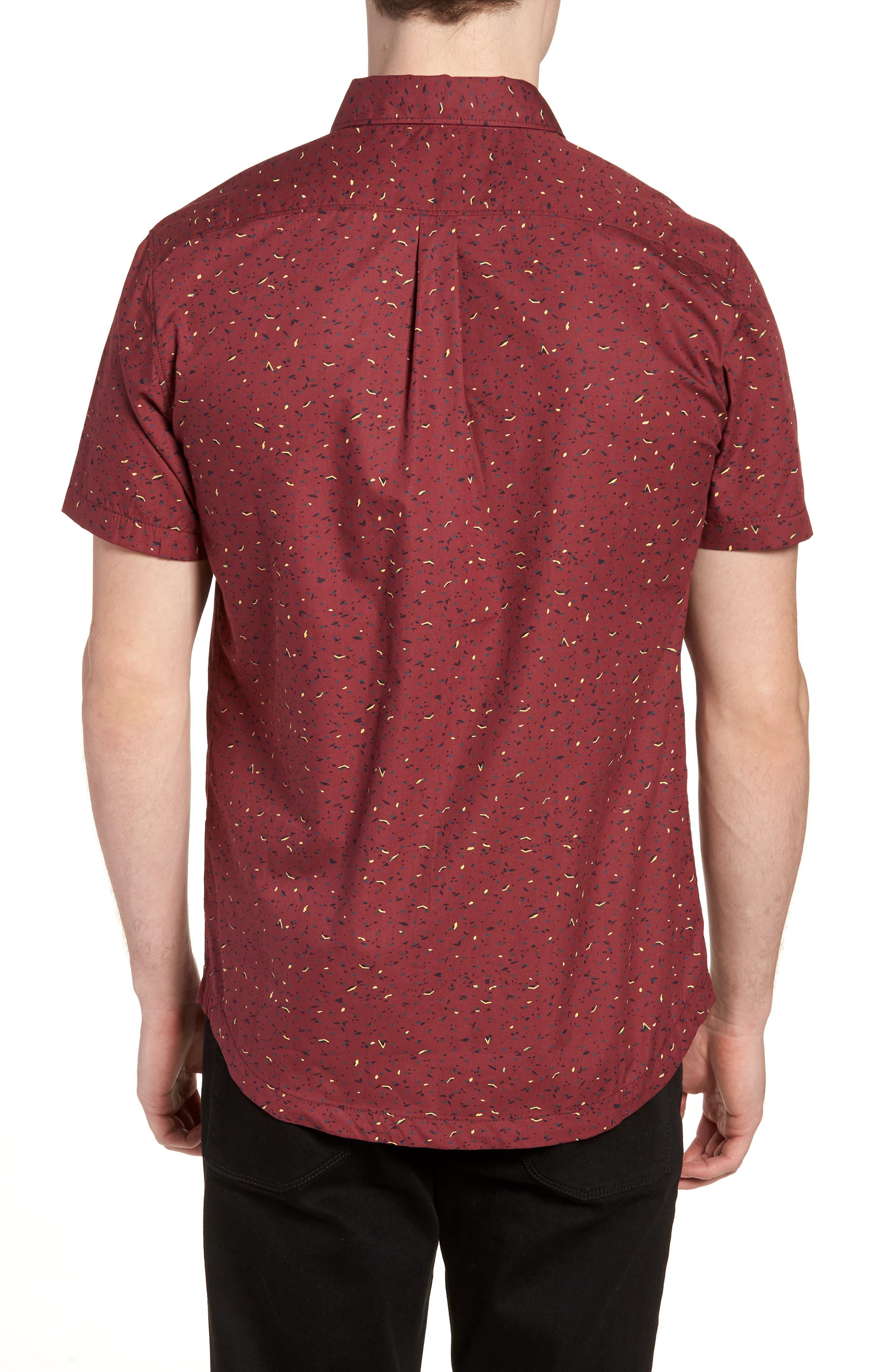 Jaded Woven Shirt,                             Alternate thumbnail 3, color,                             Tawny Port