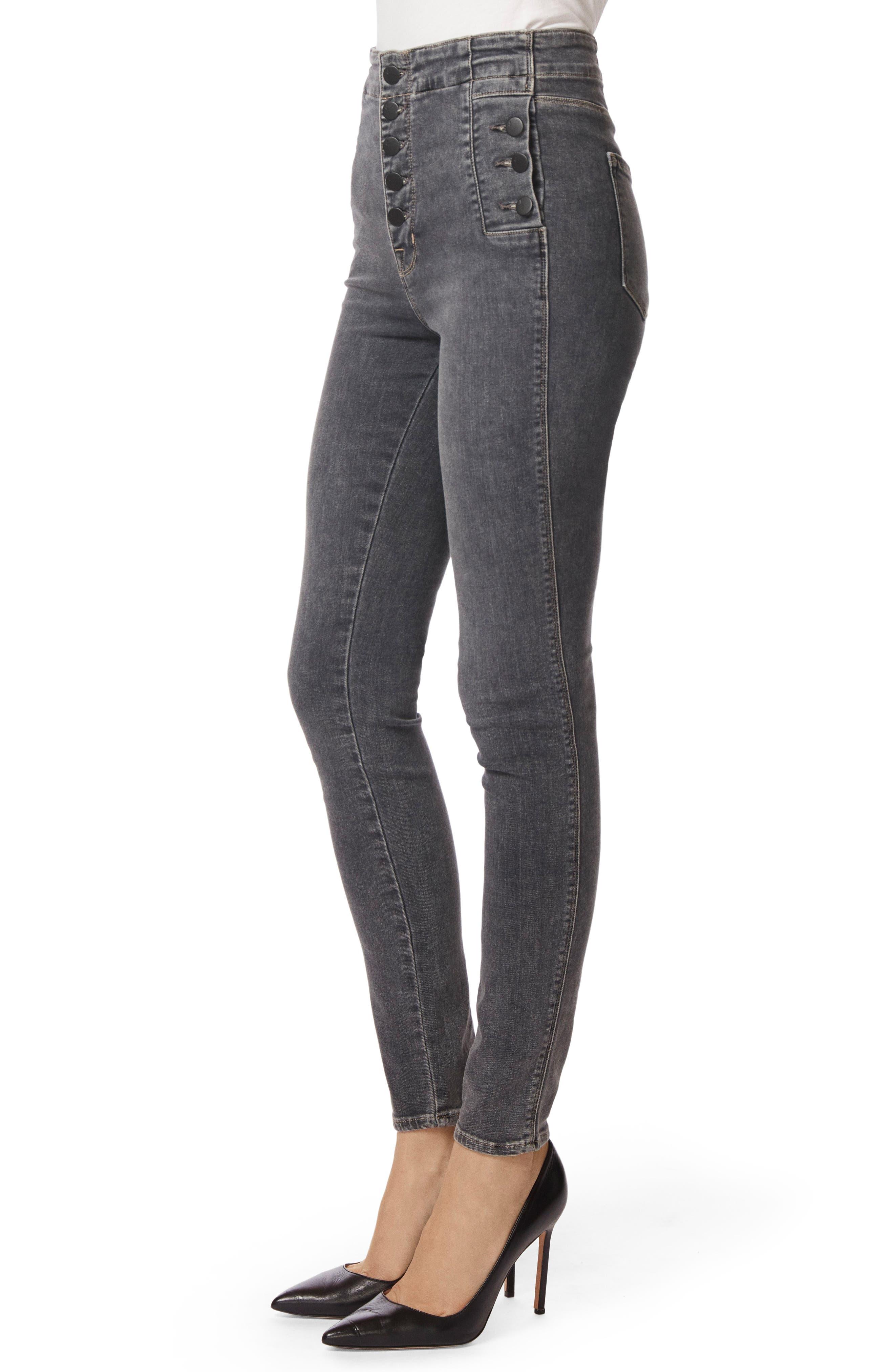Natasha Sky High High Waist Super Skinny Jeans,                             Alternate thumbnail 3, color,                             Obscura