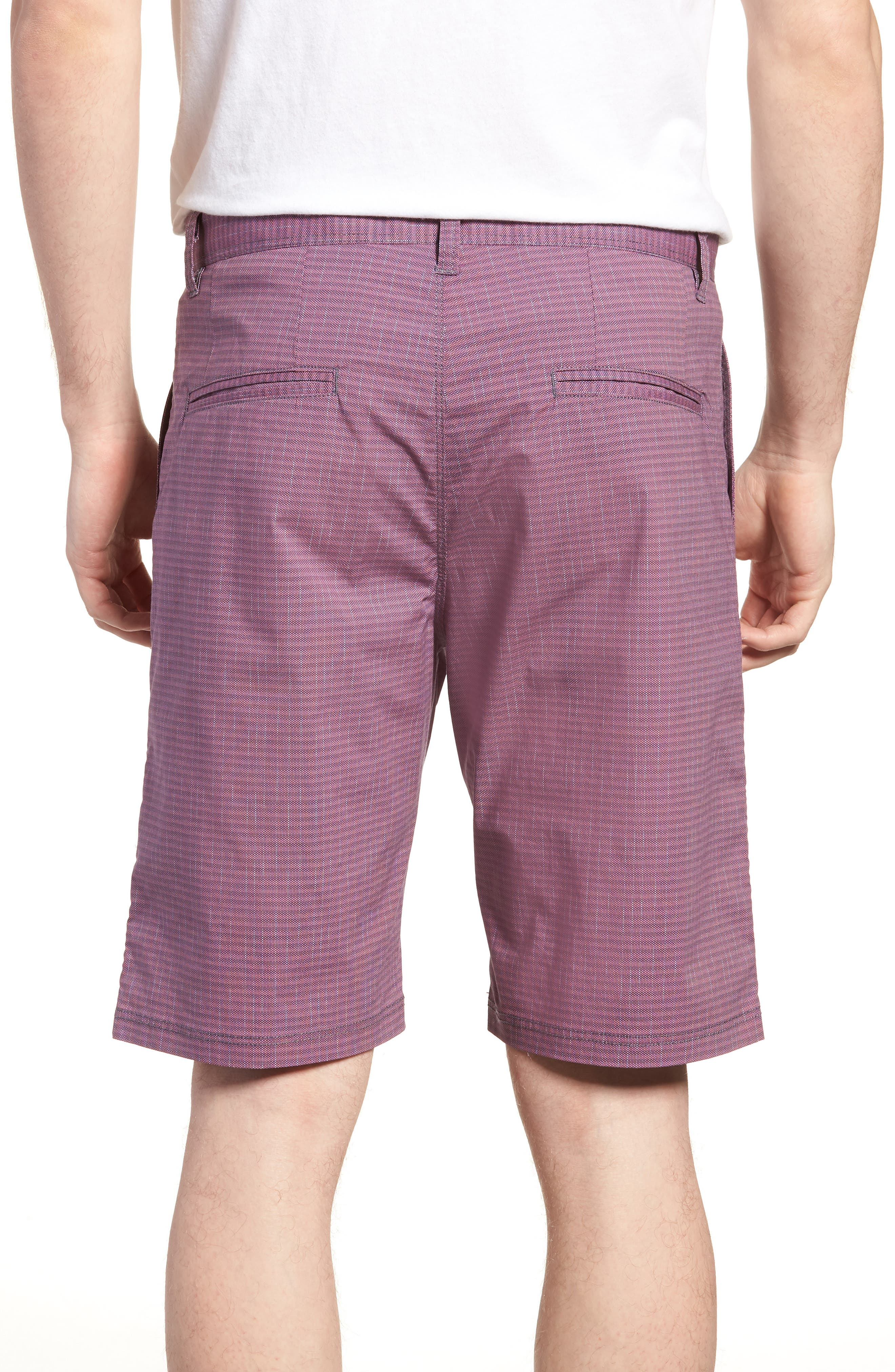 Textured Stretch Shorts,                             Alternate thumbnail 2, color,                             Pink