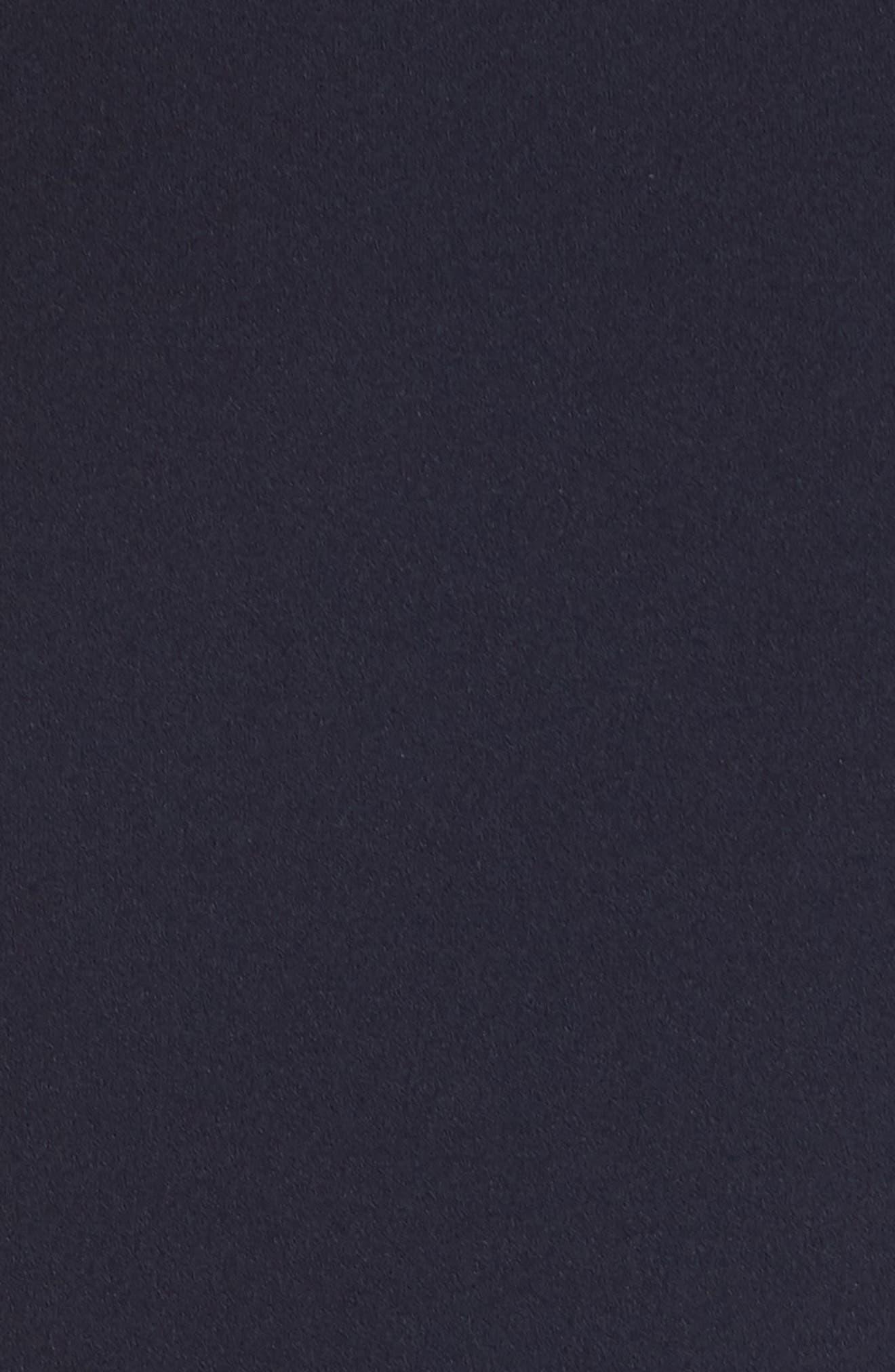 Cap Sleeve Scuba Crepe Fit & Flare Dress,                             Alternate thumbnail 6, color,                             Navy
