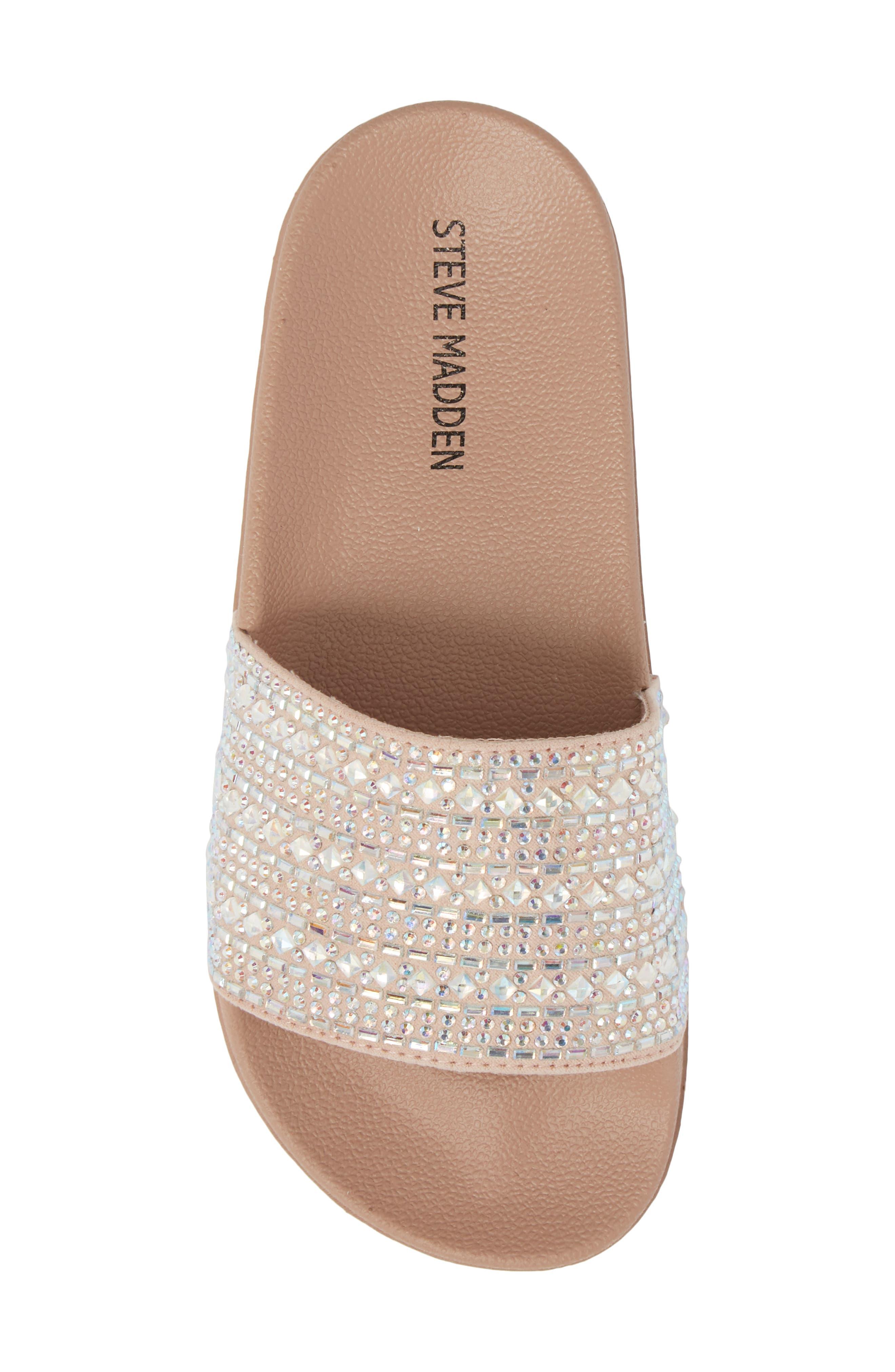 JDAZZLE Crystal Embellished Slide Sandal,                             Alternate thumbnail 5, color,                             Blush