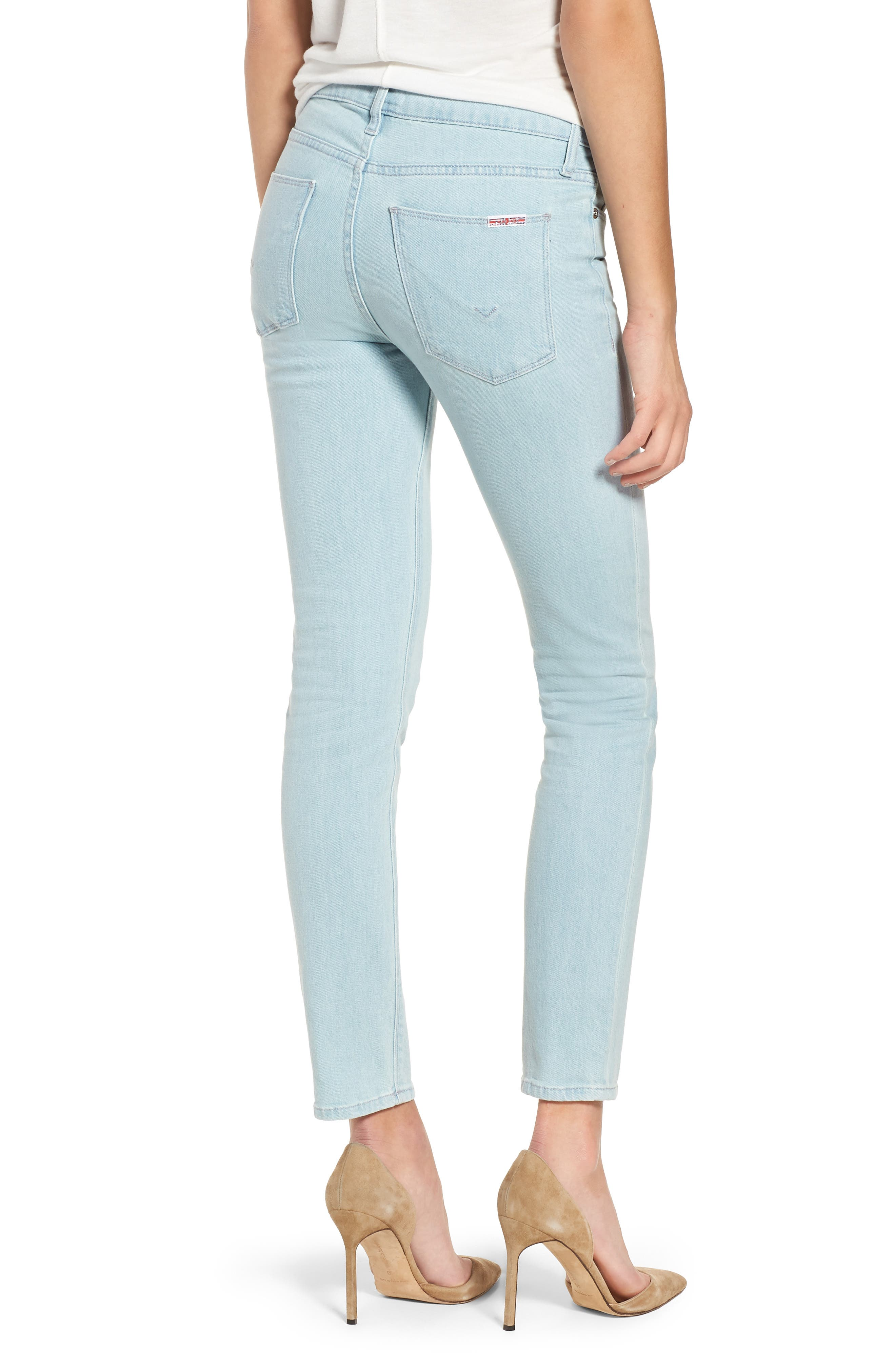 Tally Crop Skinny Jeans,                             Alternate thumbnail 2, color,                             Sage Extract