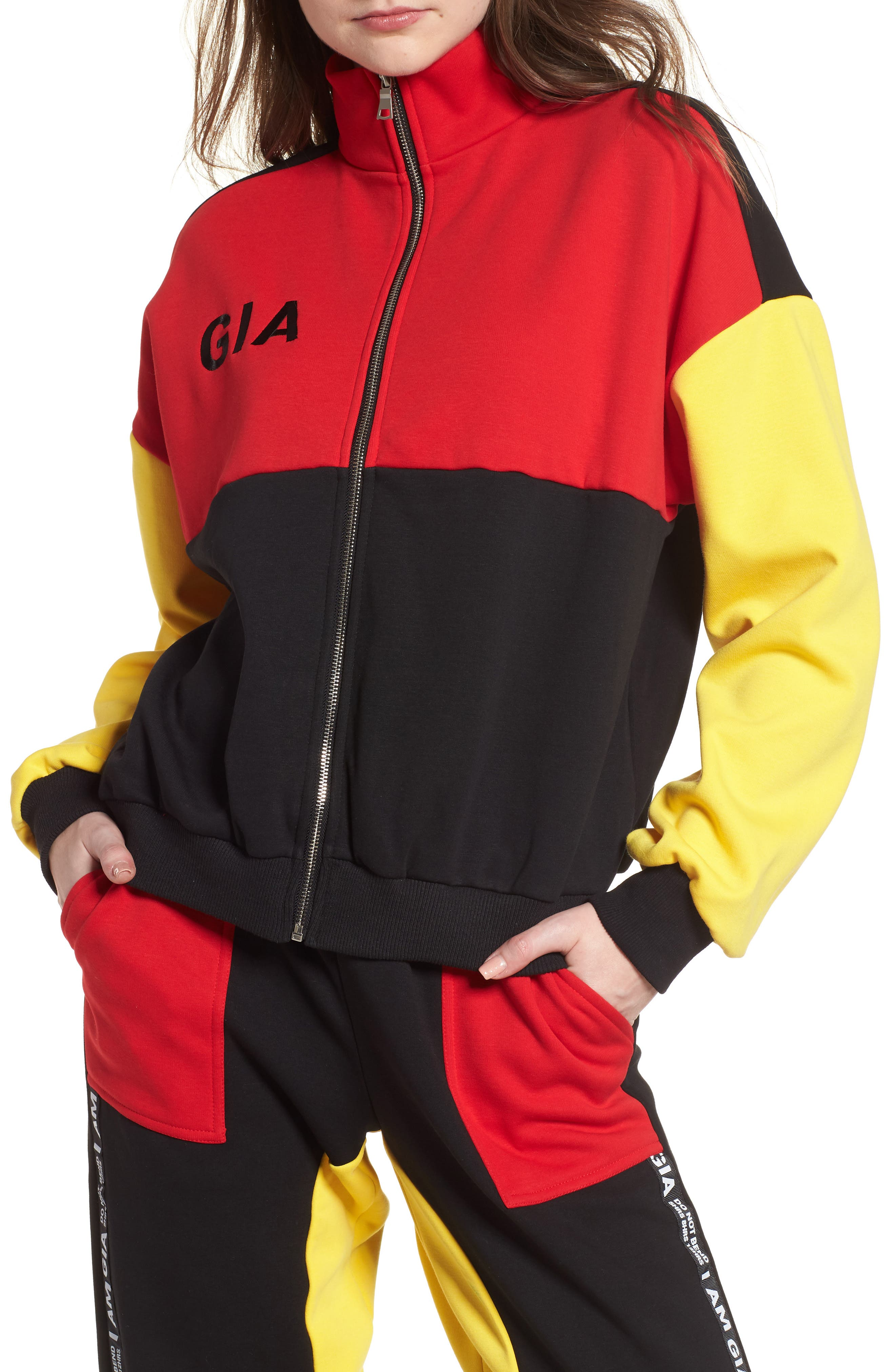 I.AM.GIA Blaster Jacket,                             Main thumbnail 1, color,                             Black