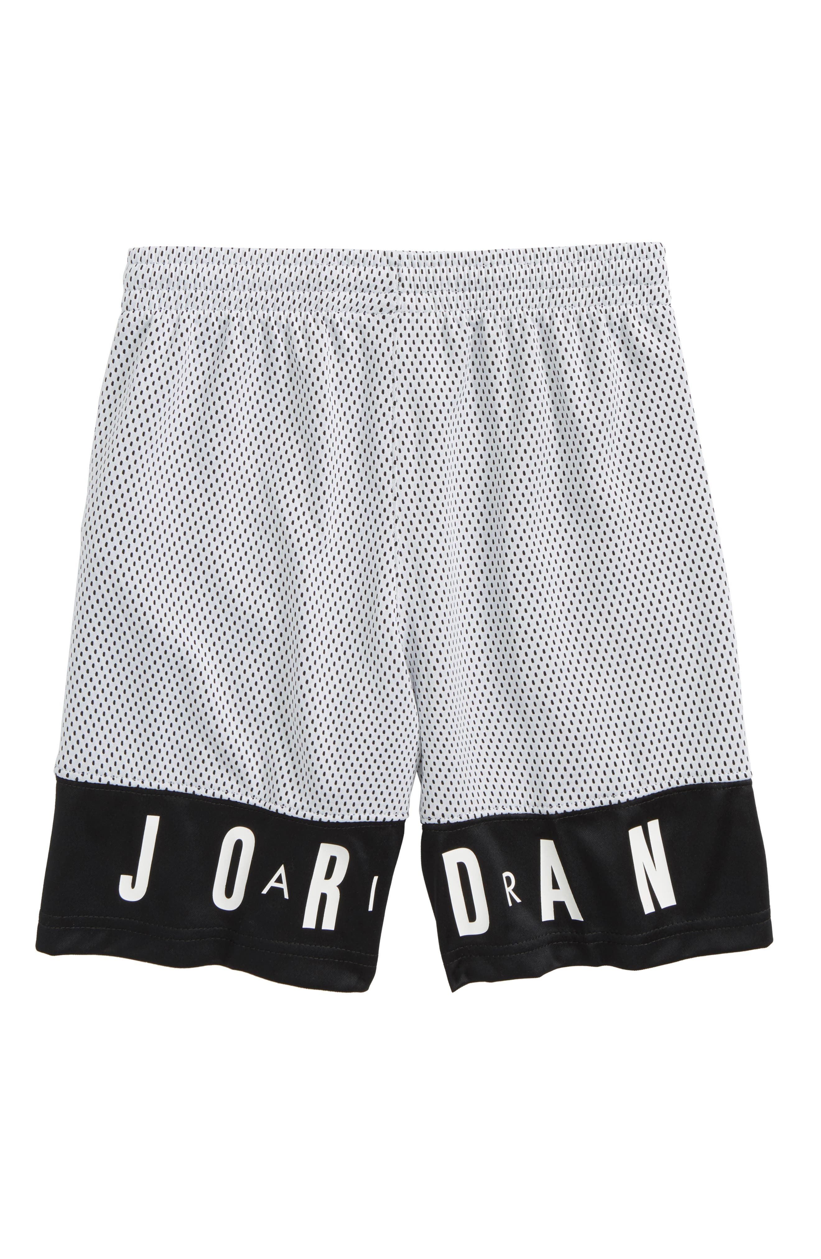 Jordan '90s Mesh Shorts,                             Alternate thumbnail 2, color,                             Black/ White