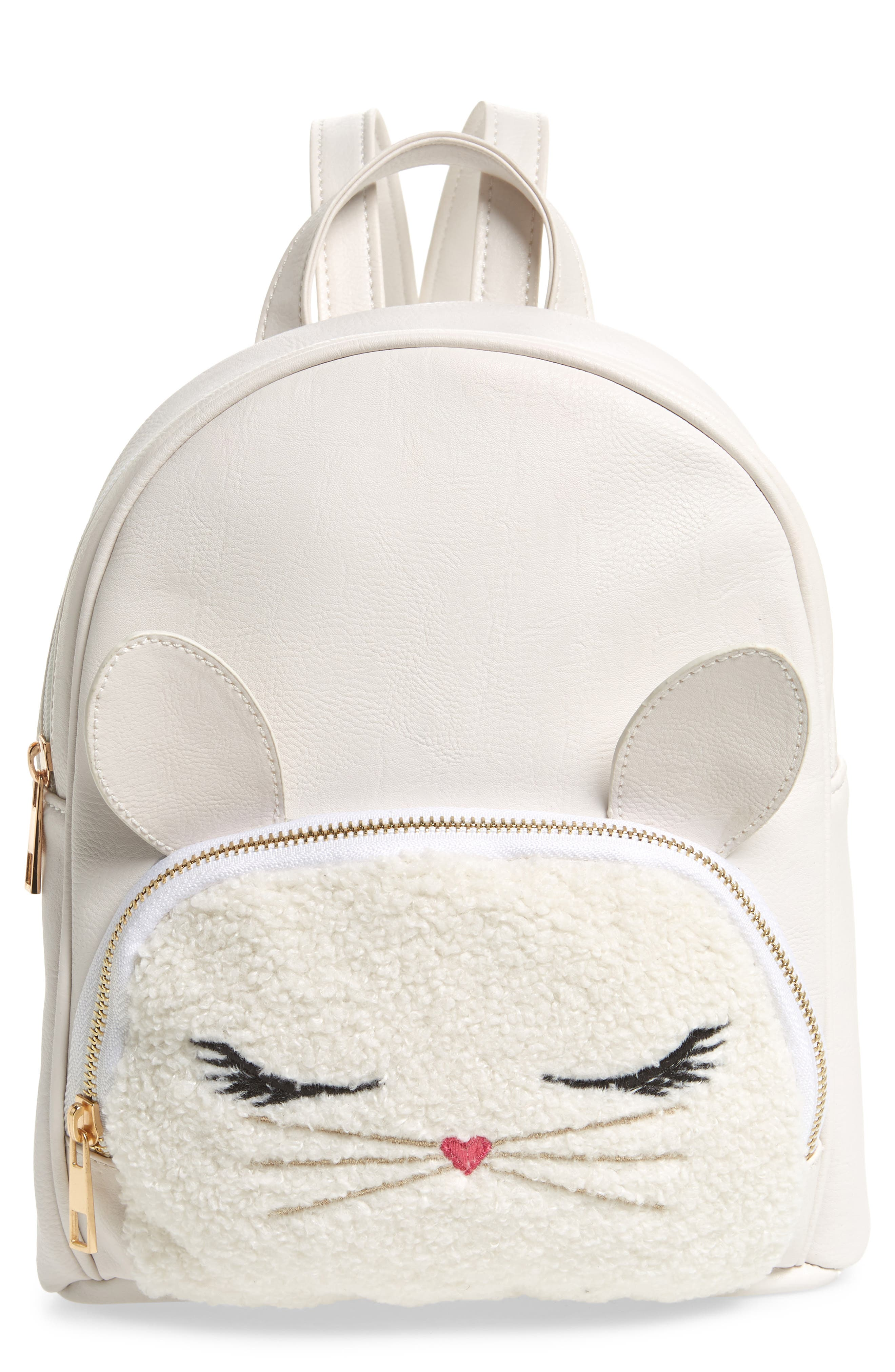 Bunny Mini Backpack,                         Main,                         color, White