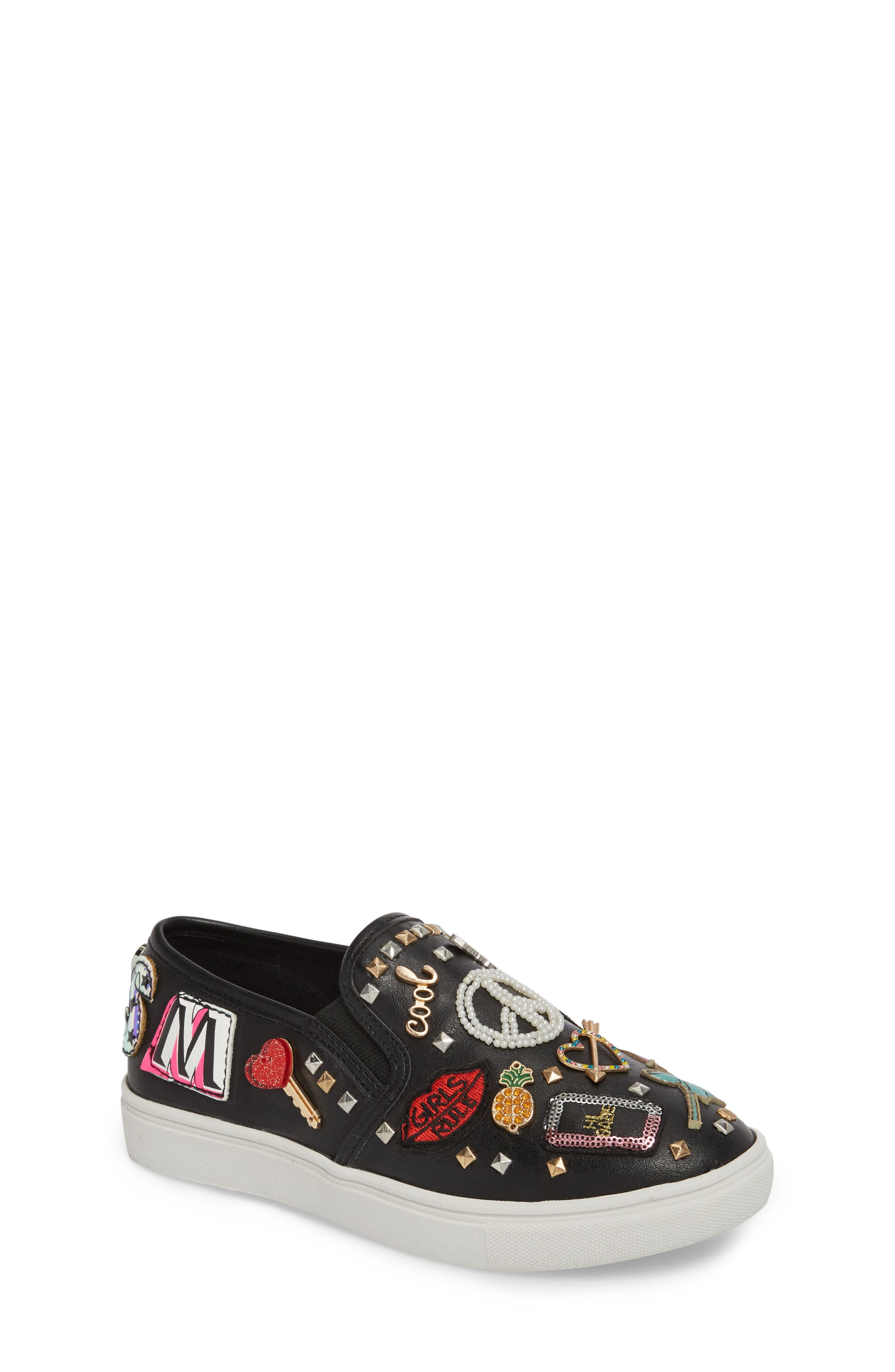 JCraze Embellished Slip-On Sneaker,                             Main thumbnail 1, color,                             Black