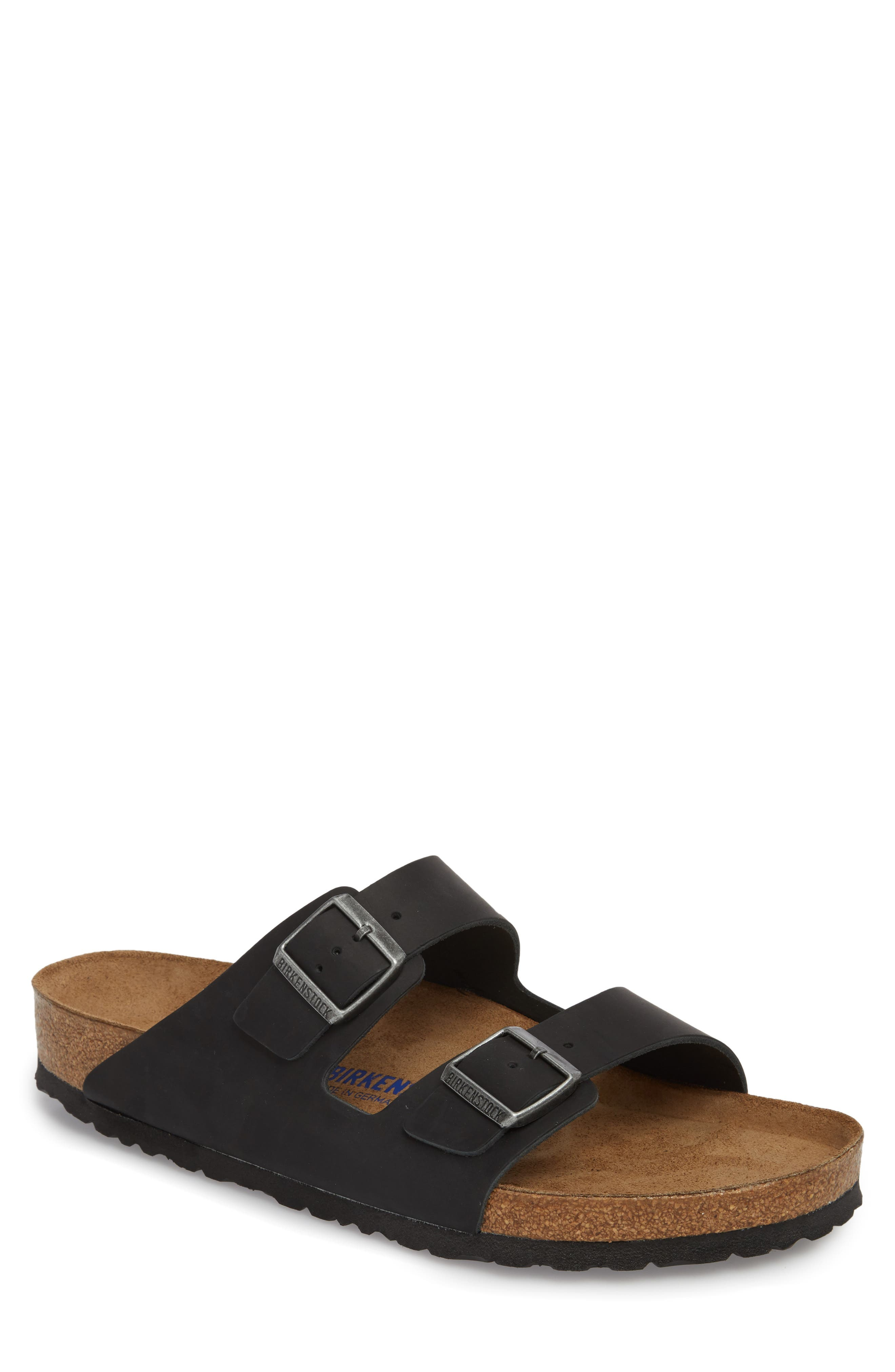 'Arizona Soft' Slide,                             Main thumbnail 1, color,                             Black Suede