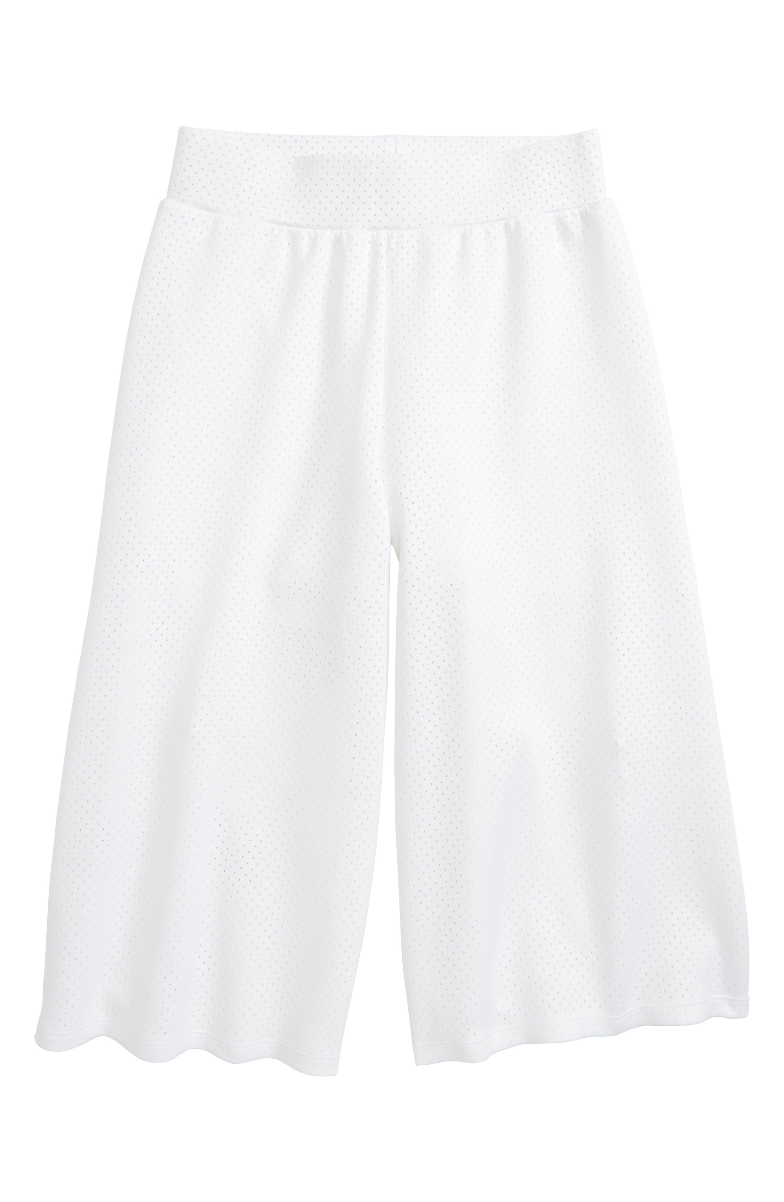 Mesh Gaucho Pants,                         Main,                         color, White