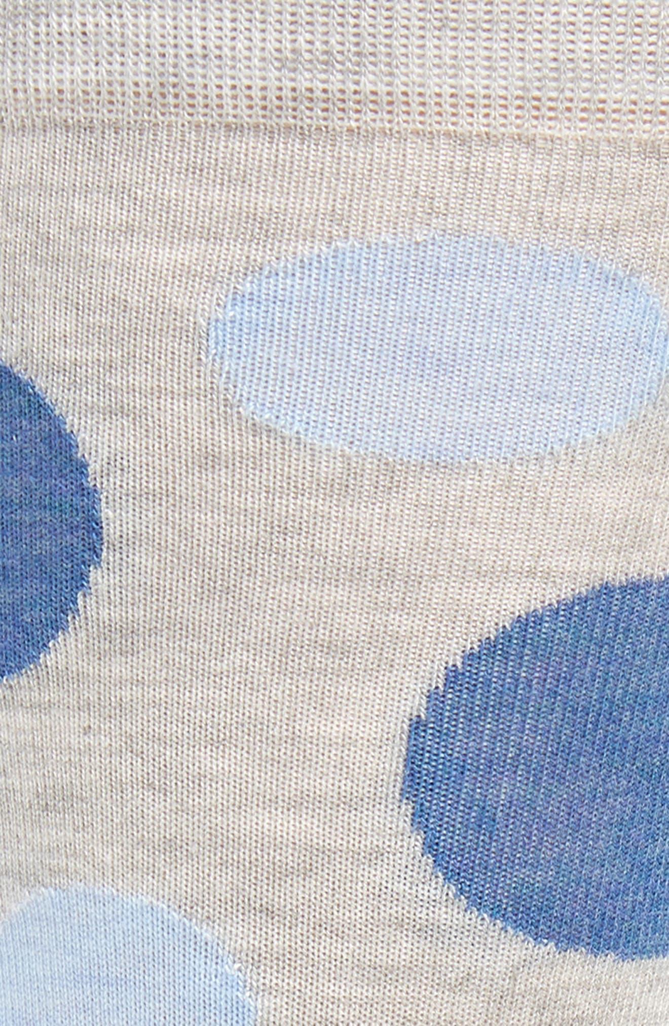 Dot Socks,                             Alternate thumbnail 2, color,                             Grey/ Blue