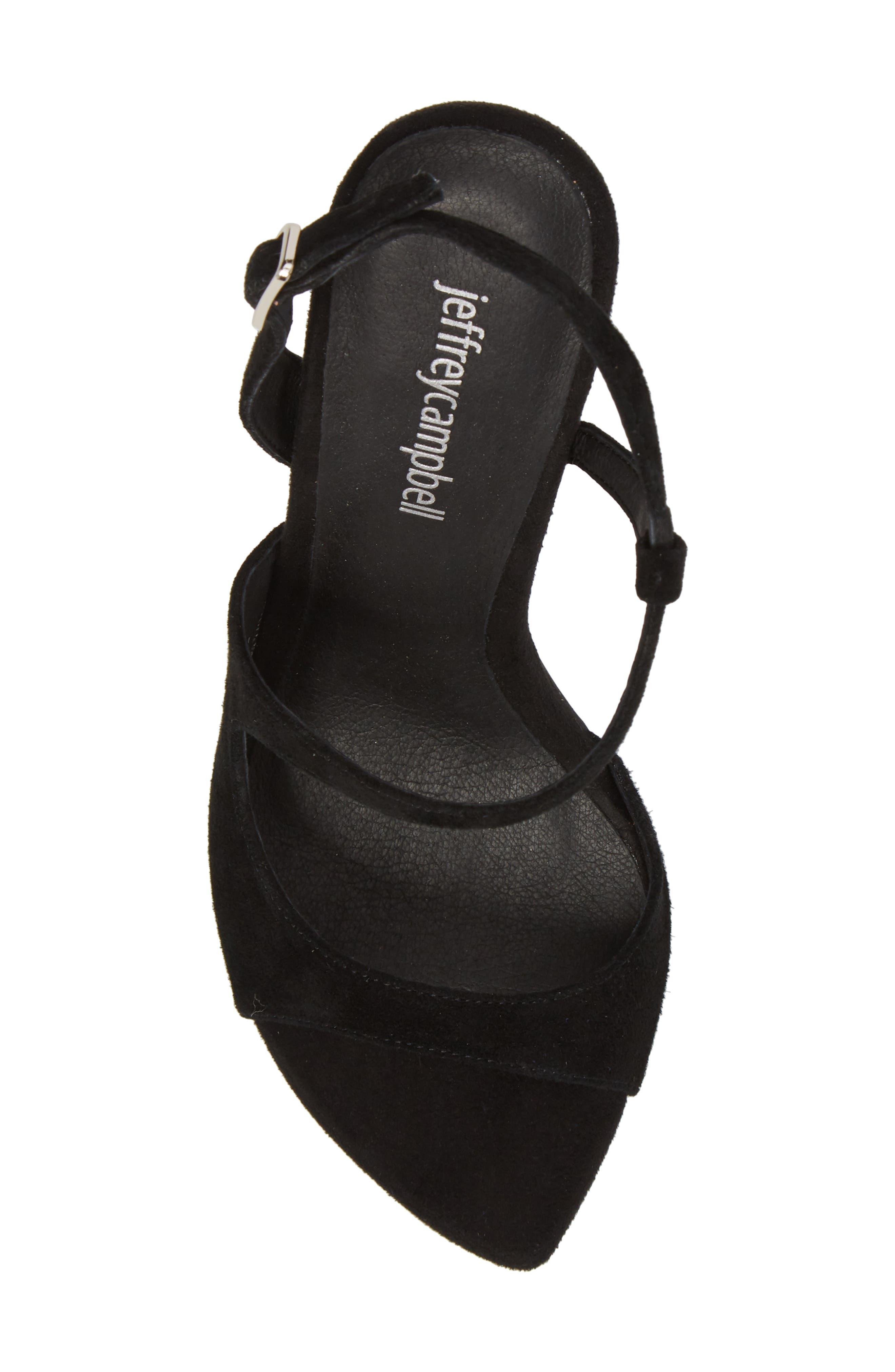 Nominal Sandal,                             Alternate thumbnail 5, color,                             Black Suede