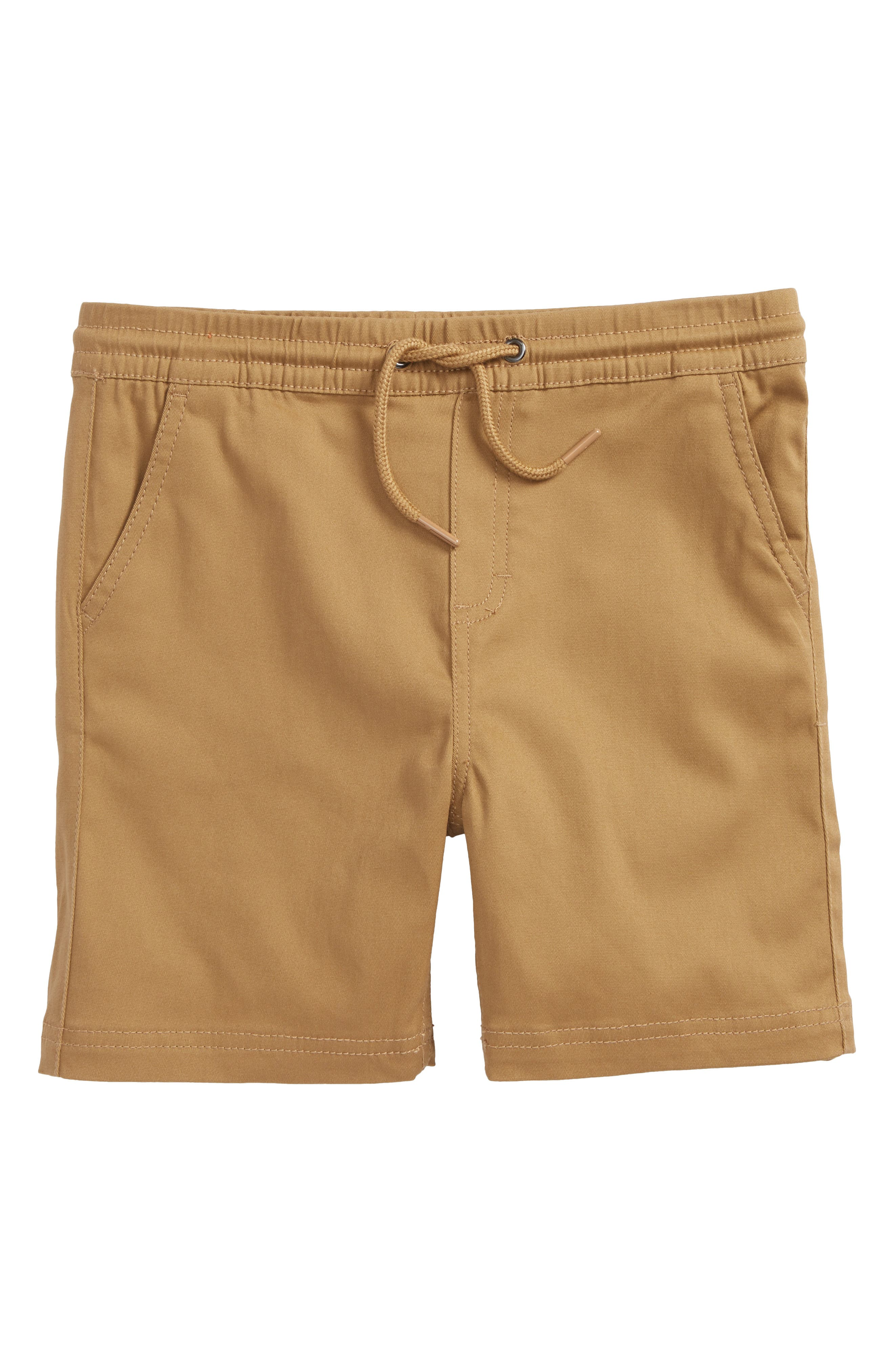 Daniel Stretch Twill Shorts,                             Main thumbnail 1, color,                             Tan
