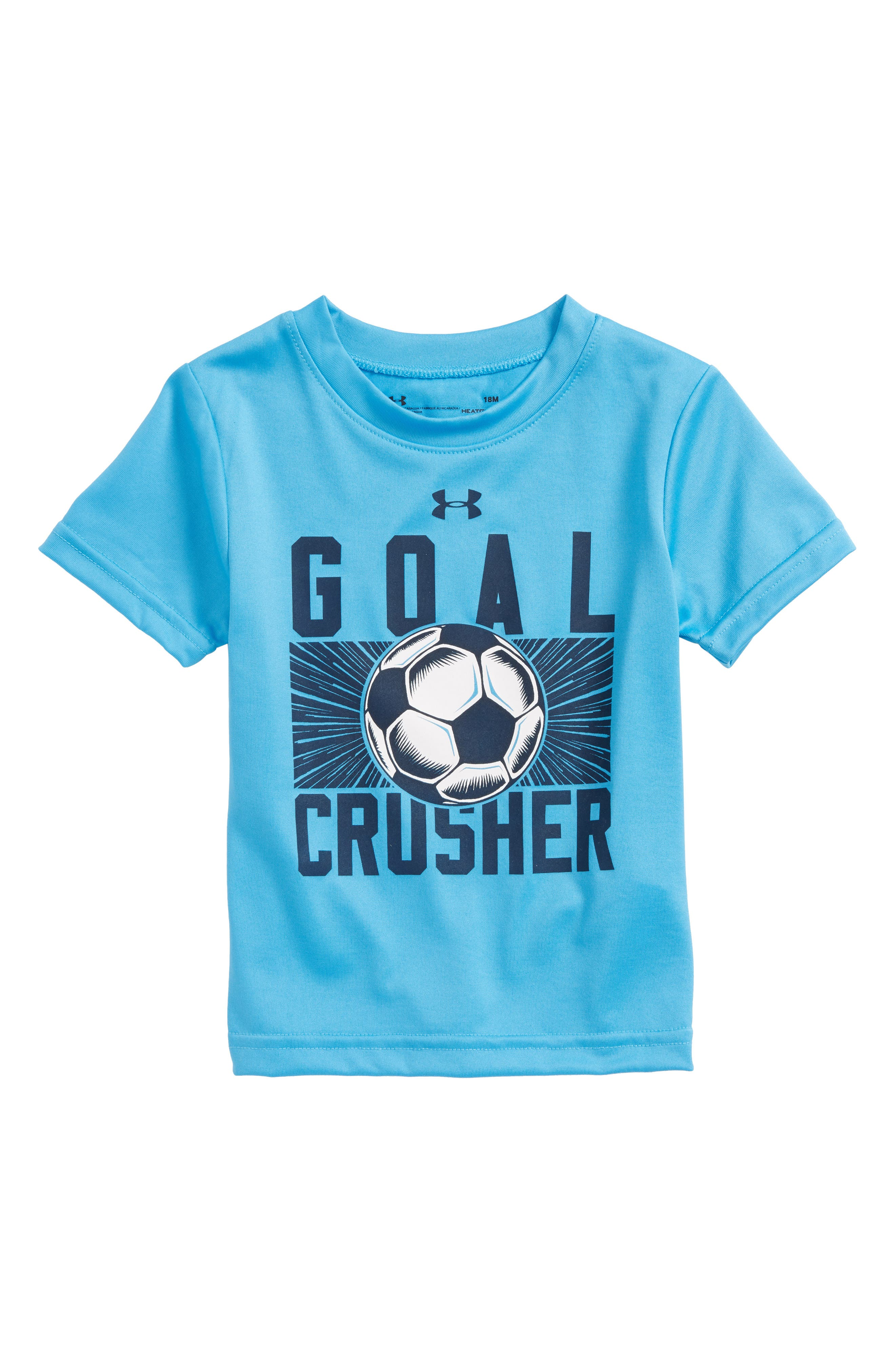 Goal Crusher HeatGear<sup>®</sup> T-Shirt,                             Main thumbnail 1, color,                             Canoe Blue