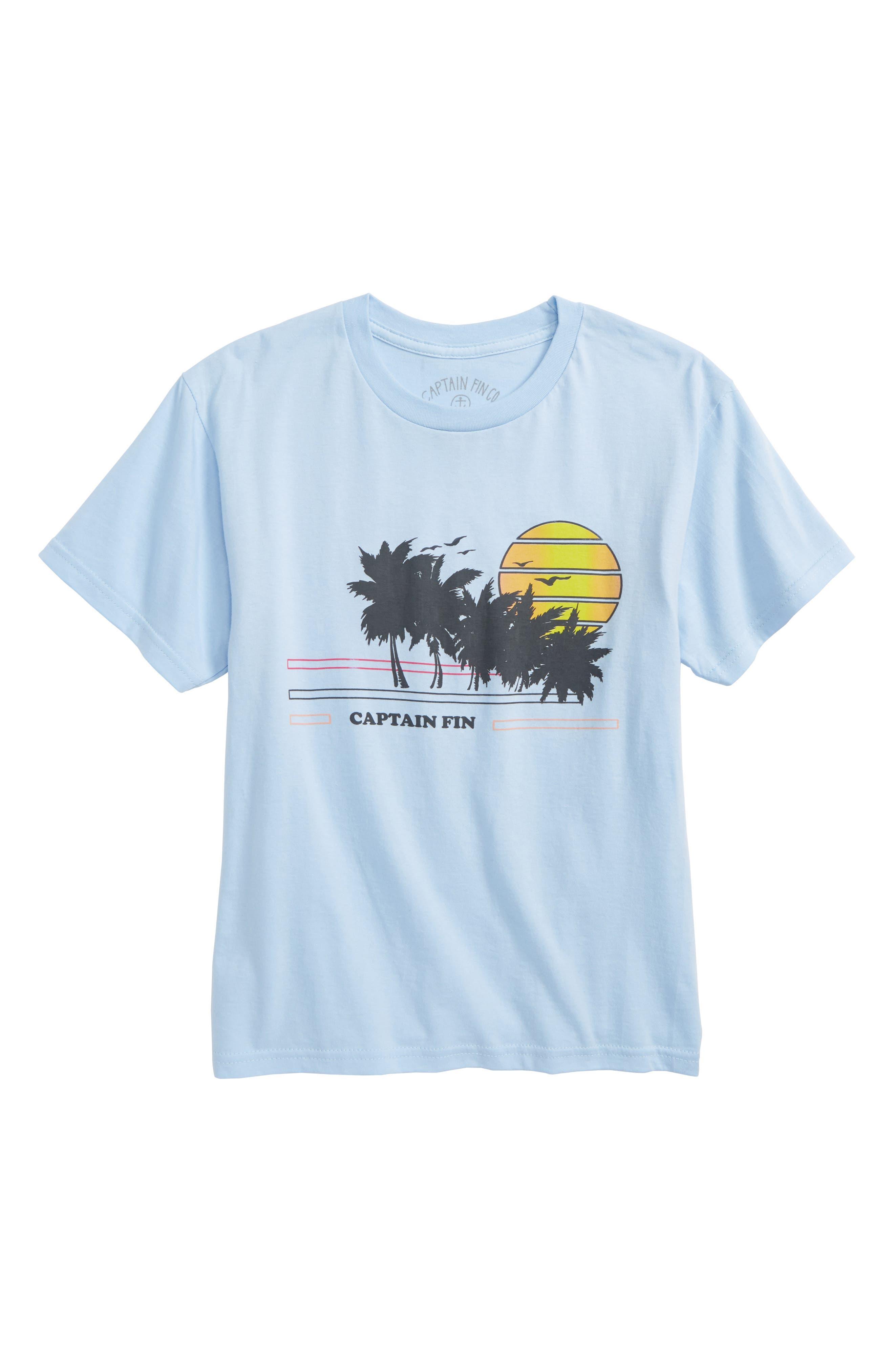 Seaside Graphic T-Shirt,                             Main thumbnail 1, color,                             Sky Blue