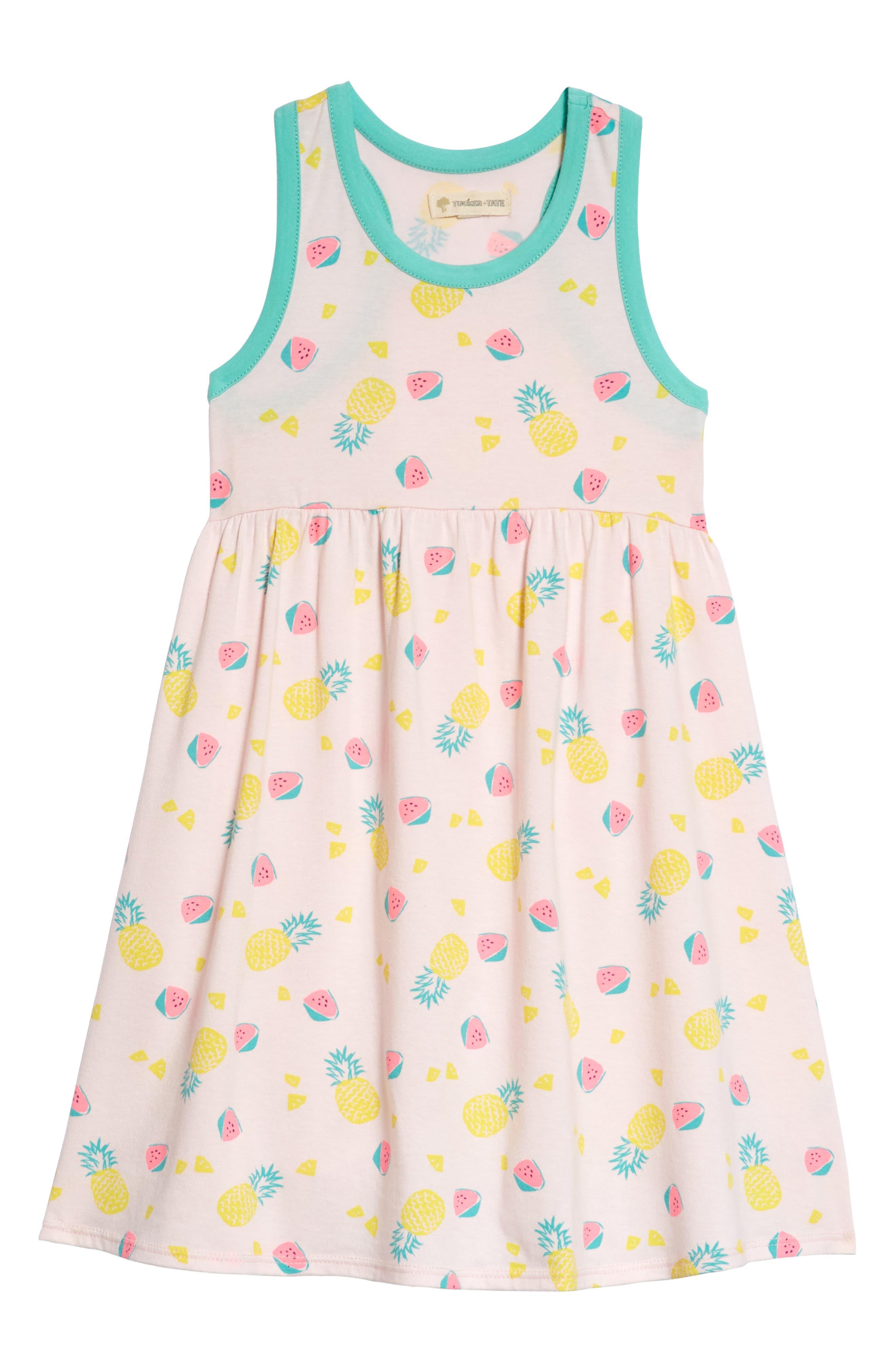 Racerback Tank Dress,                             Main thumbnail 1, color,                             Pink Breath Fruits