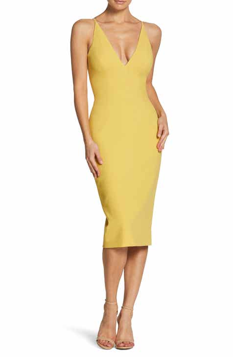 481237018024 Dress the Population Lyla Crepe Sheath Dress
