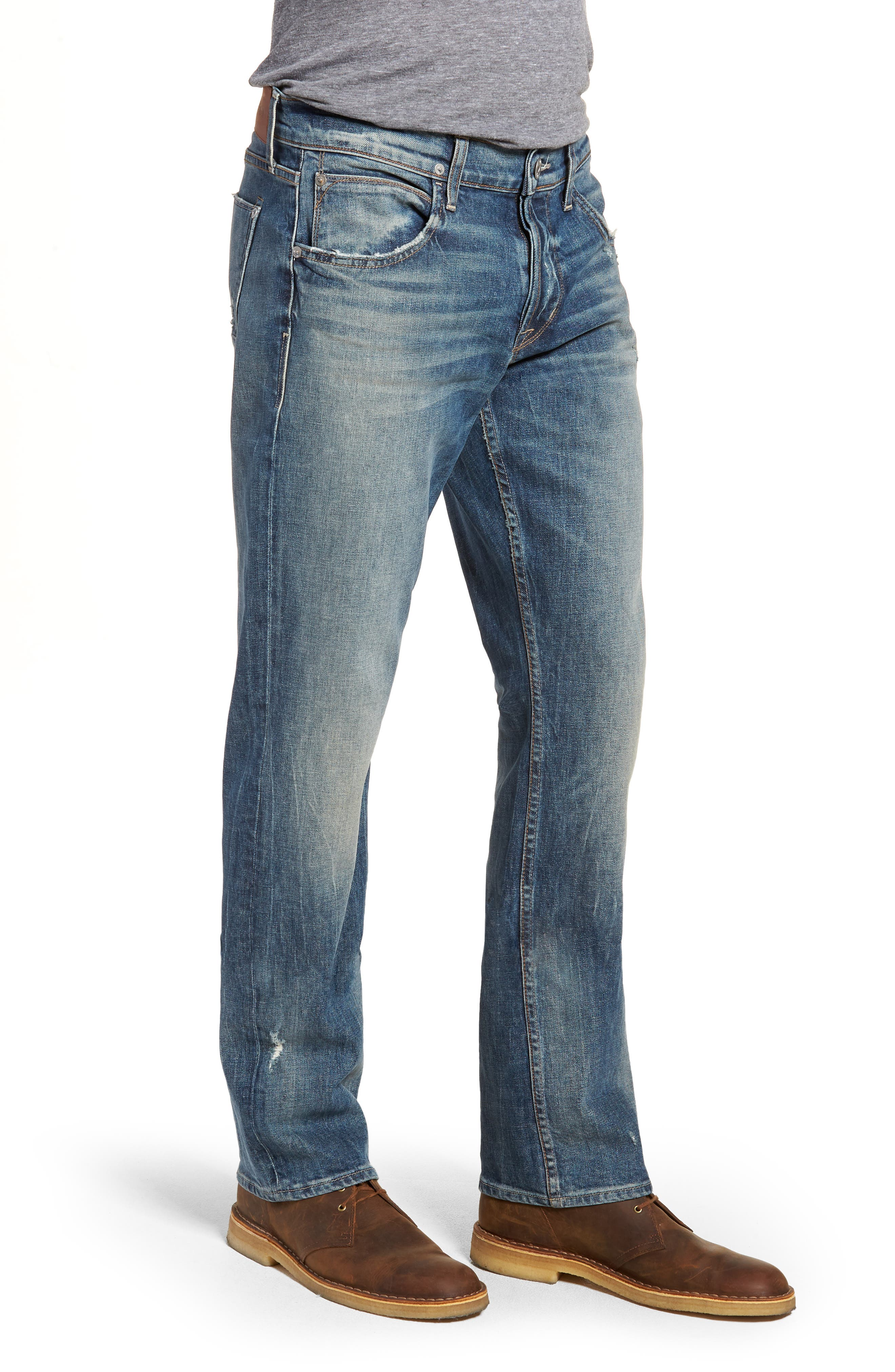 Byron Slim Straight Fit Jeans,                             Alternate thumbnail 3, color,                             Hang Up