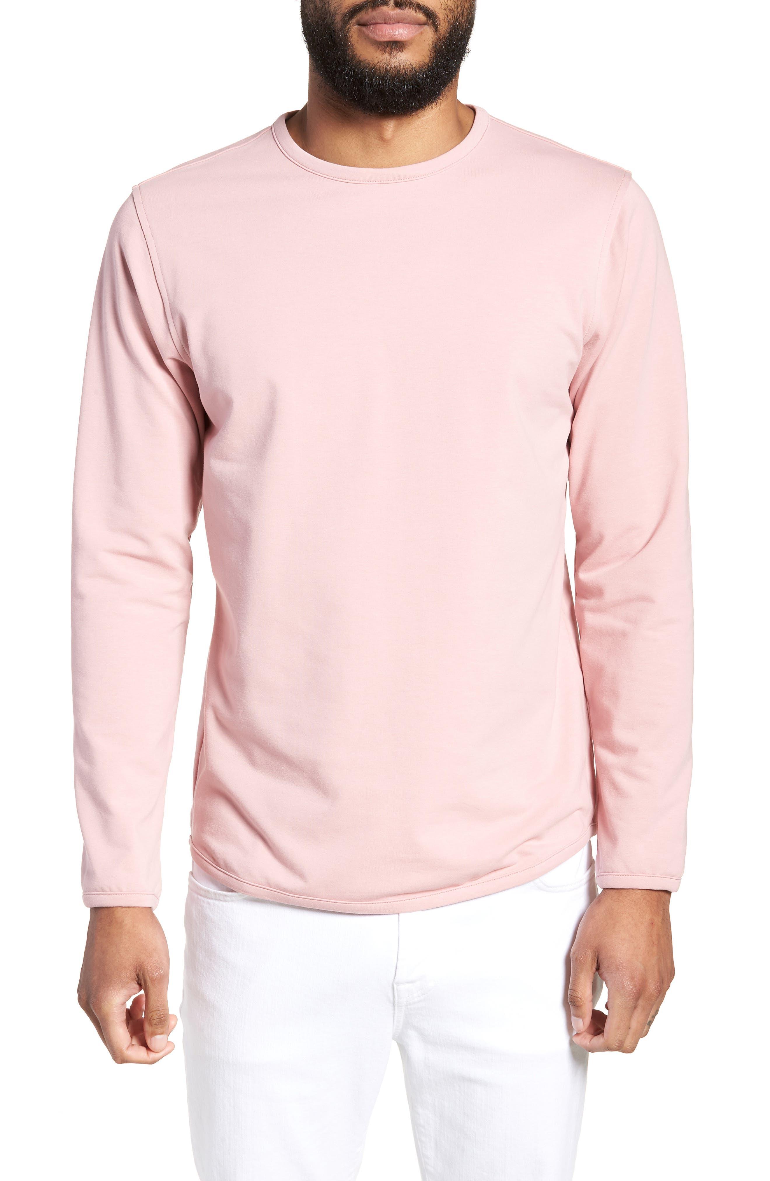 Trim Fit Long Sleeve T-Shirt,                             Main thumbnail 1, color,                             Pink