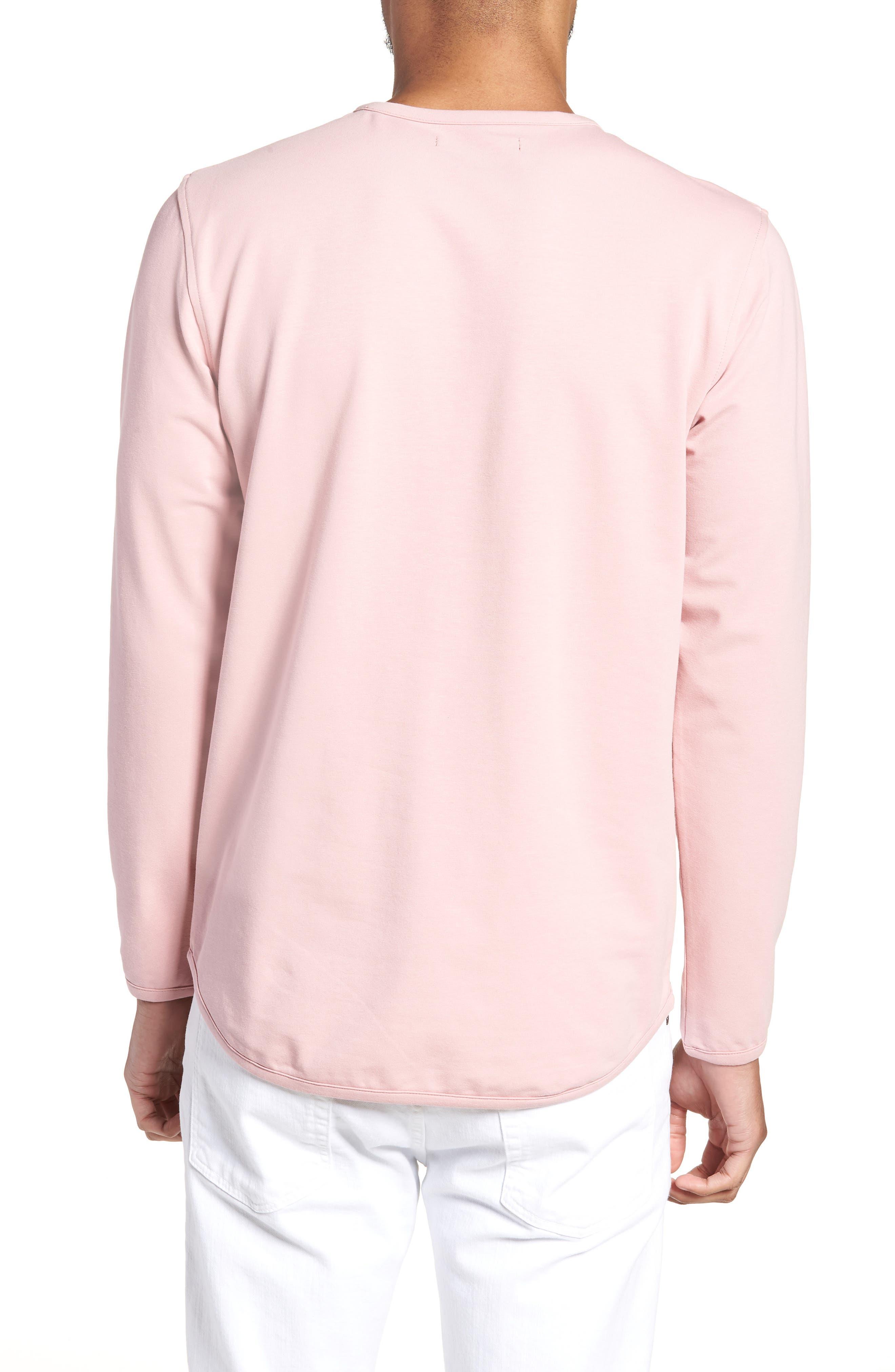 Trim Fit Long Sleeve T-Shirt,                             Alternate thumbnail 2, color,                             Pink