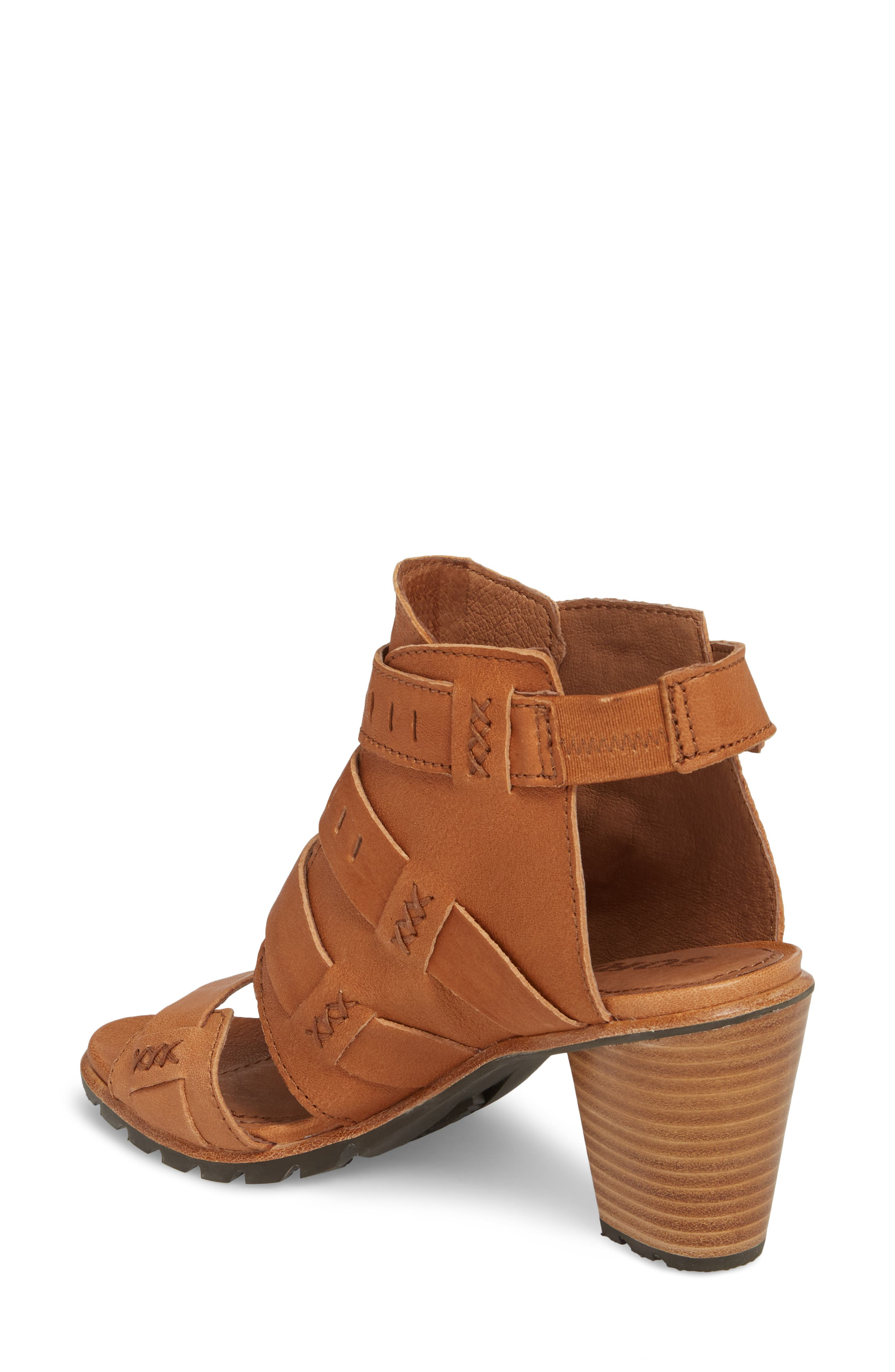 Nadia Buckle Bootie,                             Alternate thumbnail 2, color,                             Camel Brown