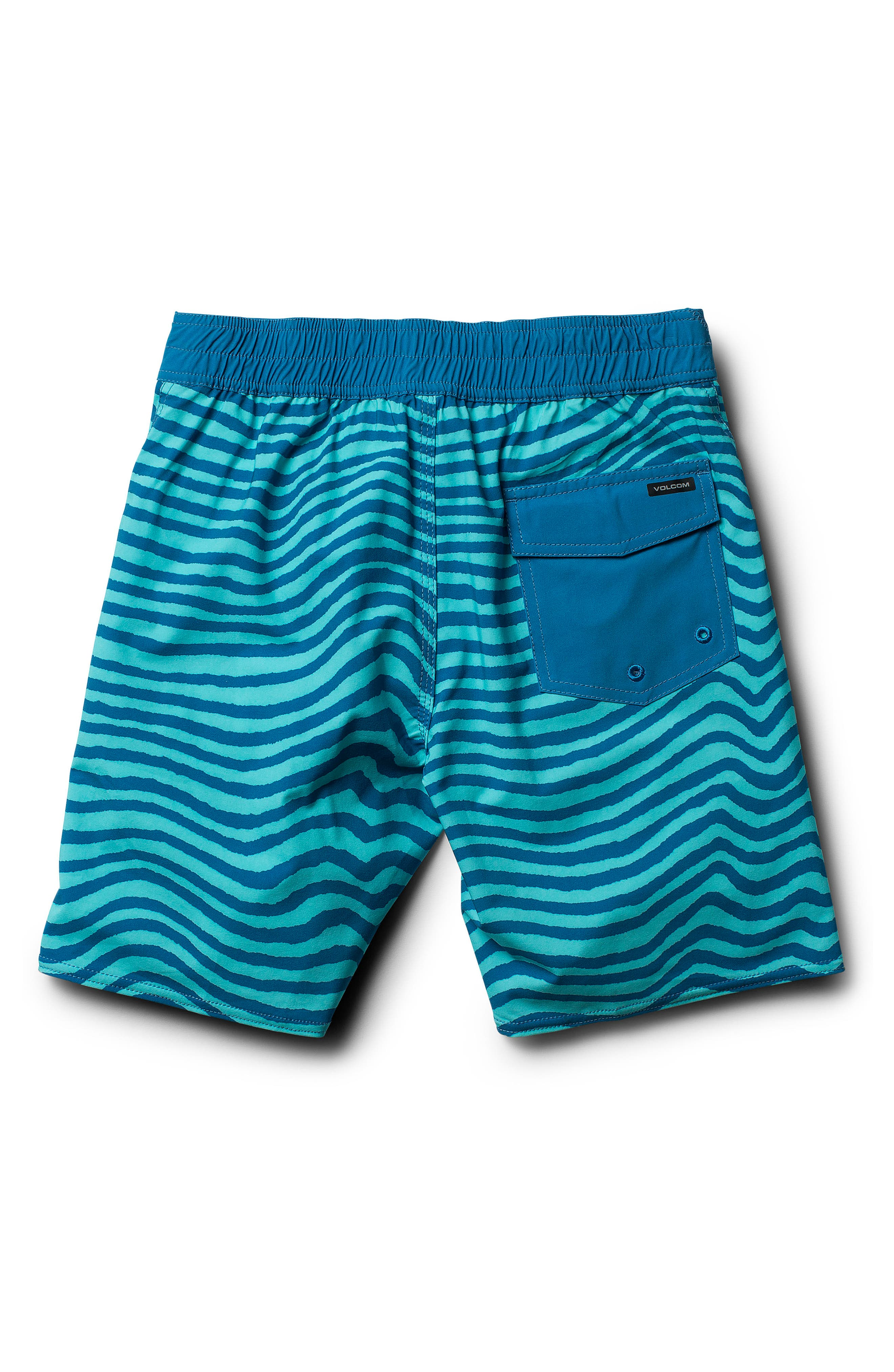 Mag Vibes Board Shorts,                             Alternate thumbnail 2, color,                             Bright Turquoise