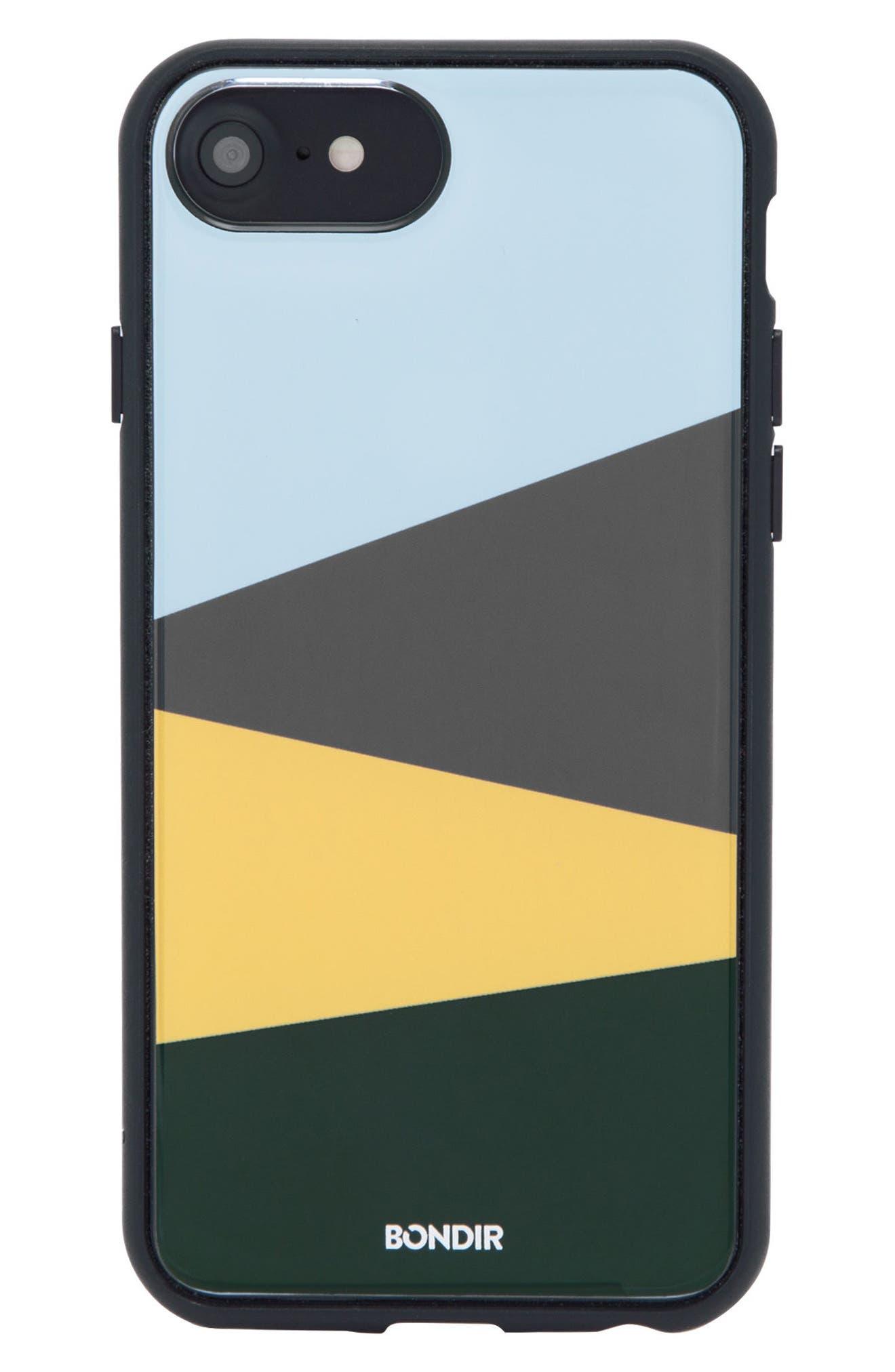 Colorblock iPhone 6/6s/7/8 & 6/6s/7/8 Plus Case,                         Main,                         color, Blue/ Green