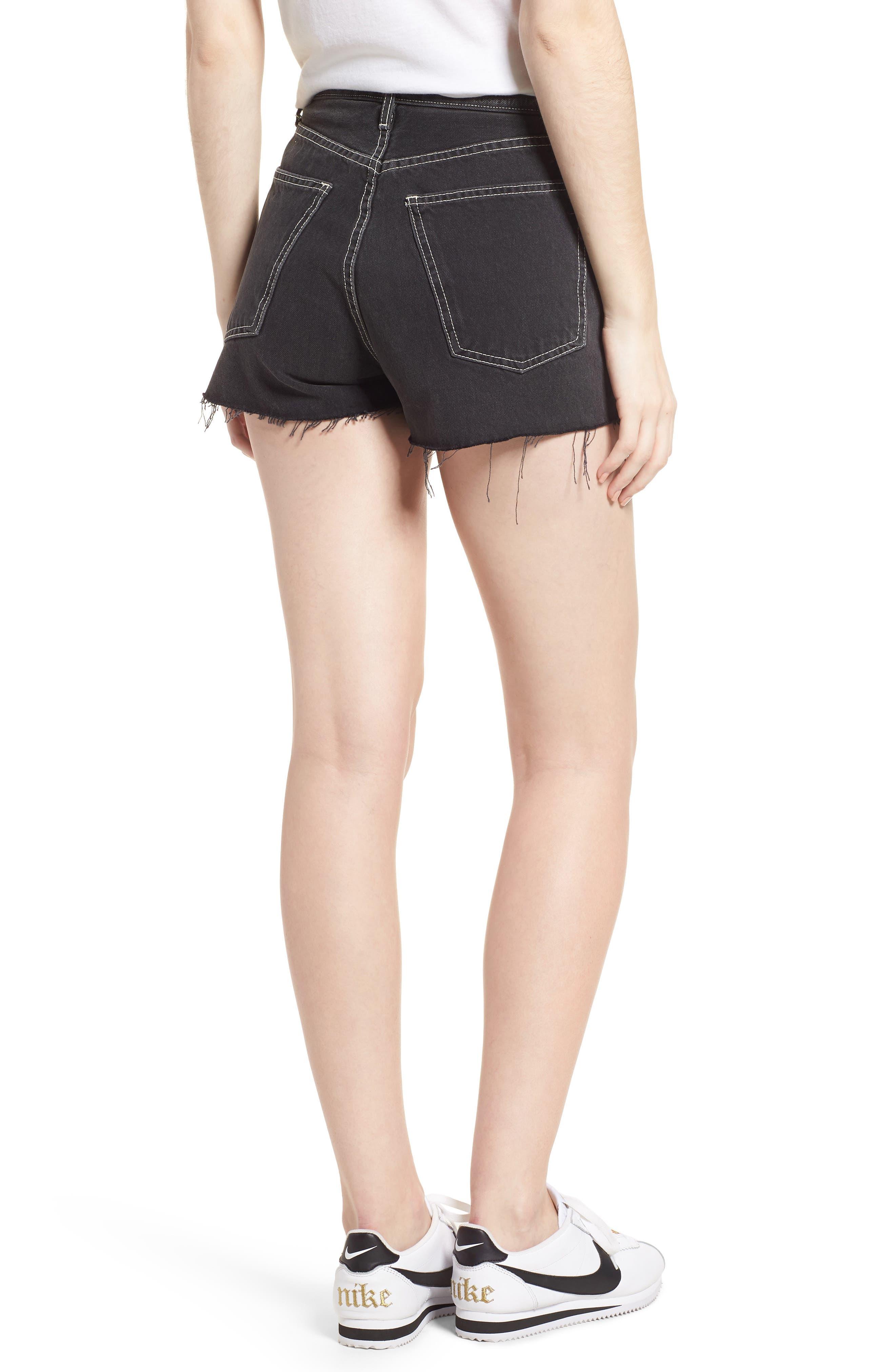 The Ultra High Waist Denim Shorts,                             Alternate thumbnail 2, color,                             Conary