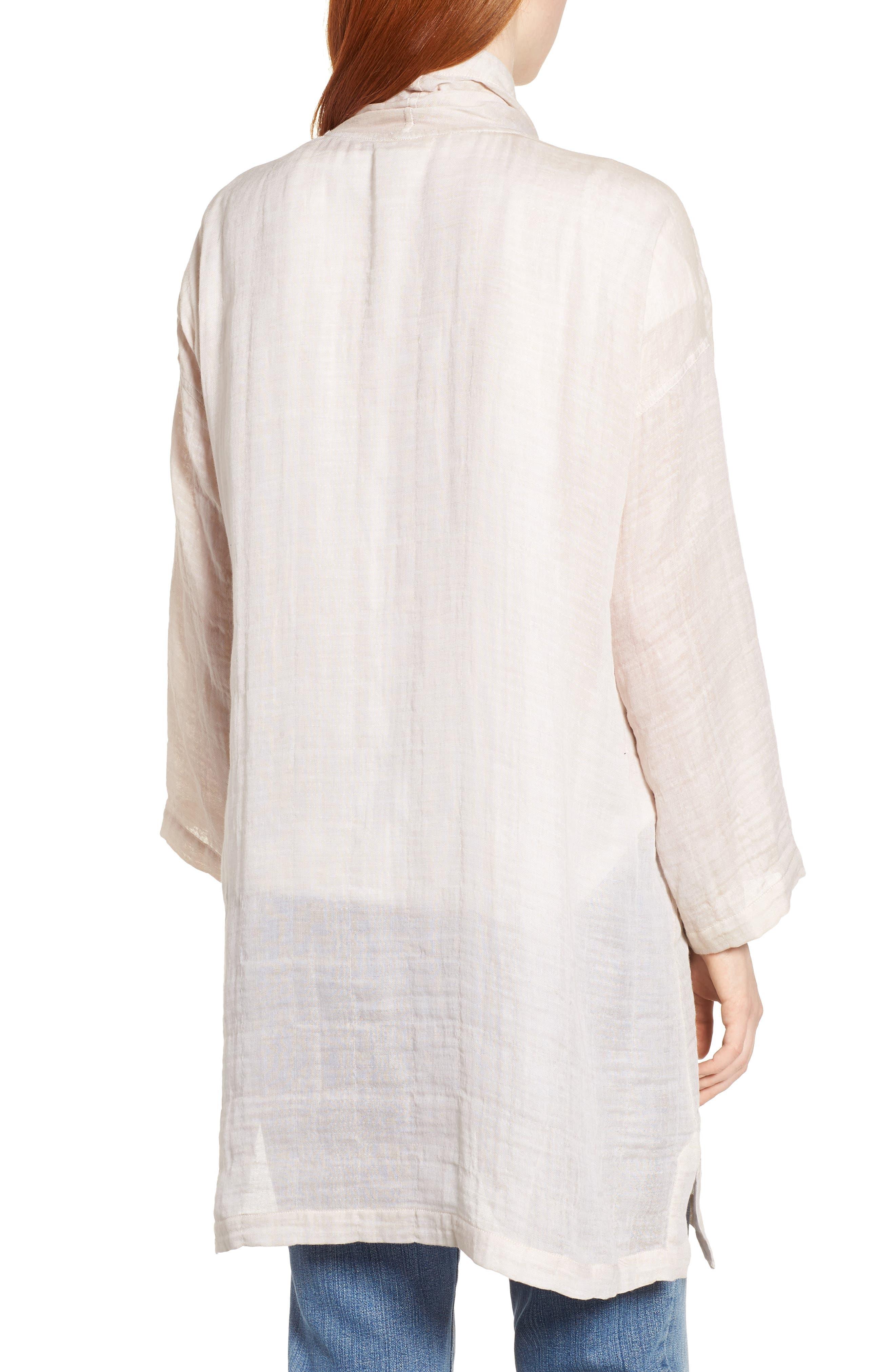 Linen Blend Kimono Jacket,                             Alternate thumbnail 2, color,                             Natural