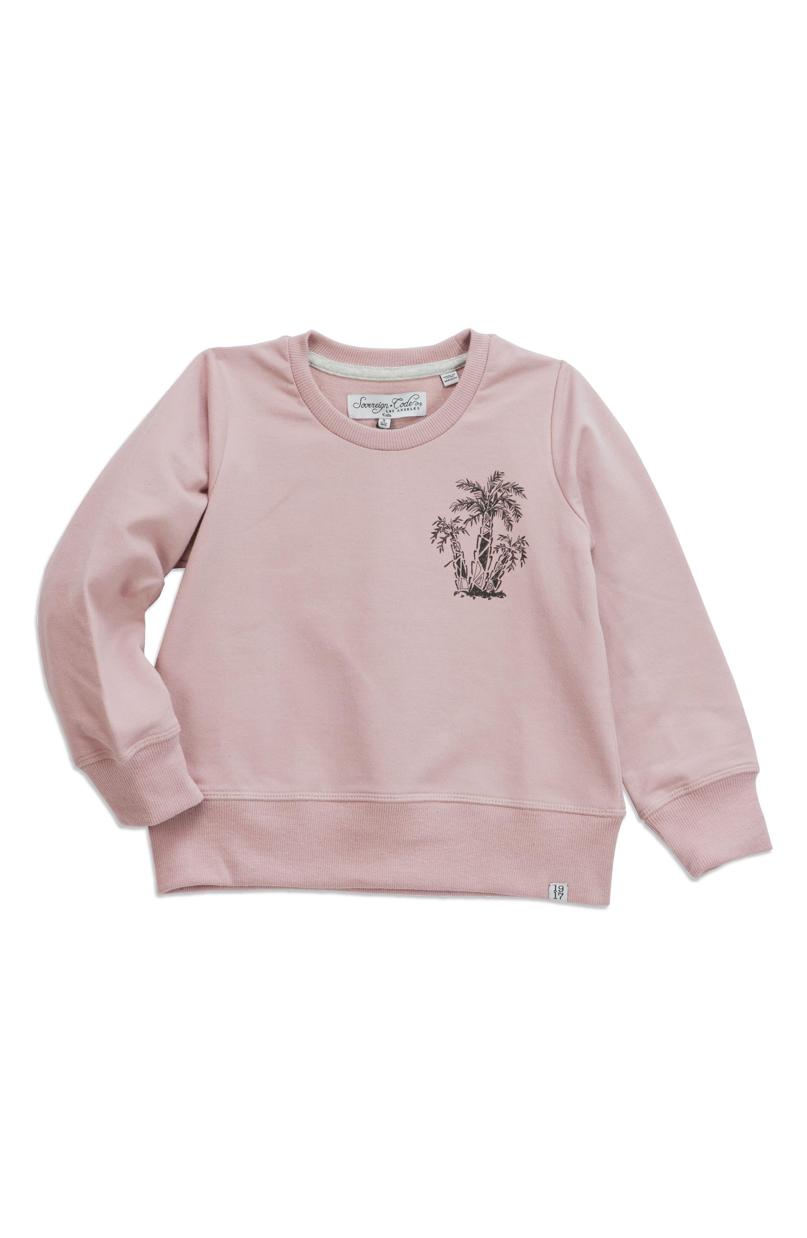 Lines Graphic Sweatshirt,                         Main,                         color, Mauve