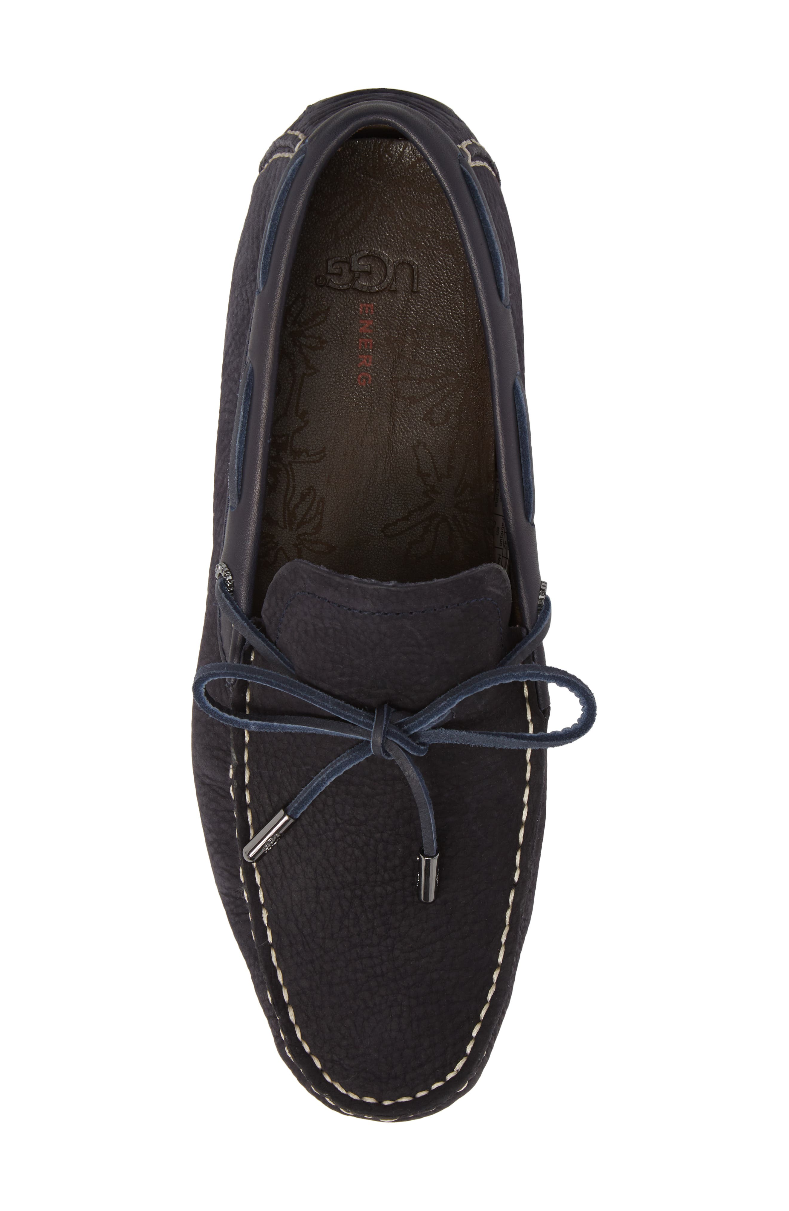 Bel Air Driving Moccasin,                             Alternate thumbnail 5, color,                             Navy Leather