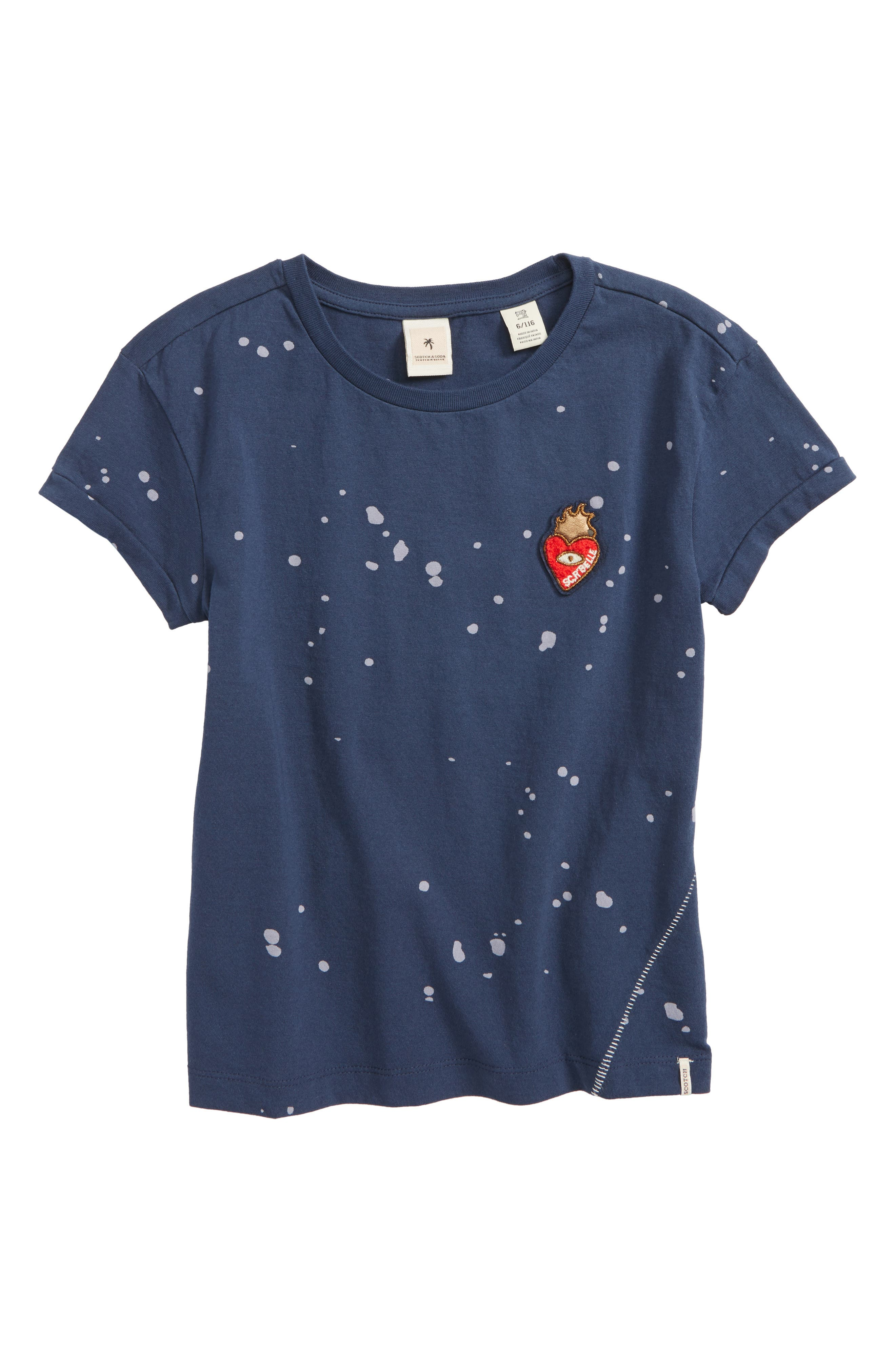 Scotch R'Belle Embroidered Tee,                         Main,                         color, Indigo