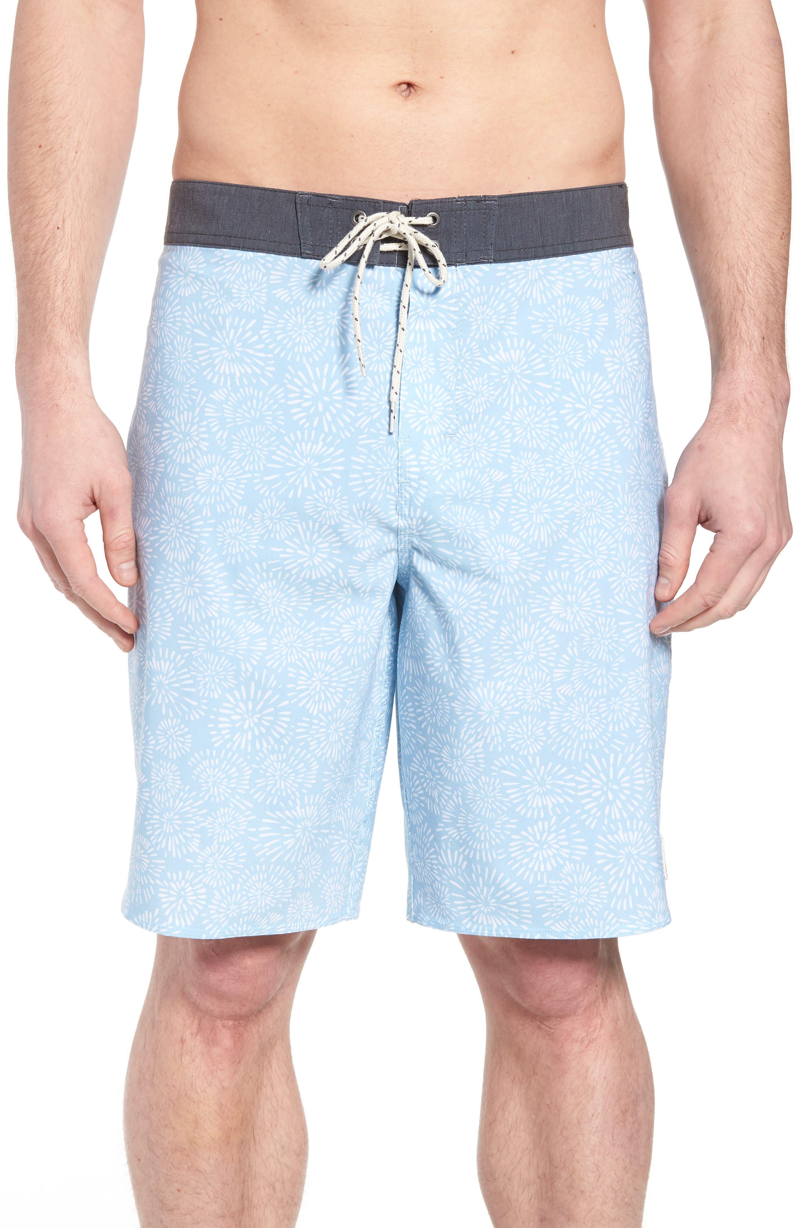 Waterfront Board Shorts,                             Main thumbnail 1, color,                             Light Blue