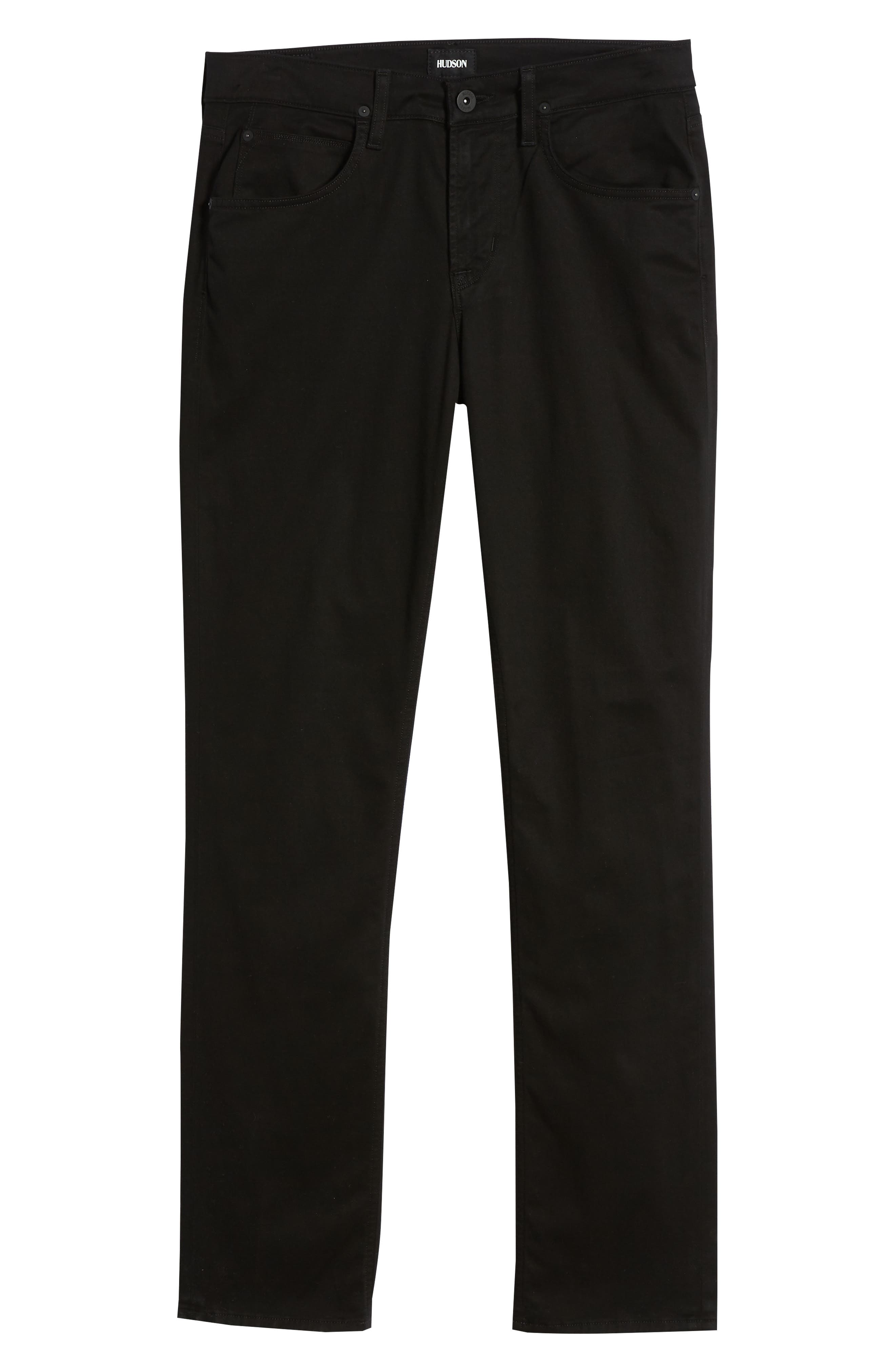 Byron Slim Straight Leg Jeans,                             Alternate thumbnail 6, color,                             Blackened