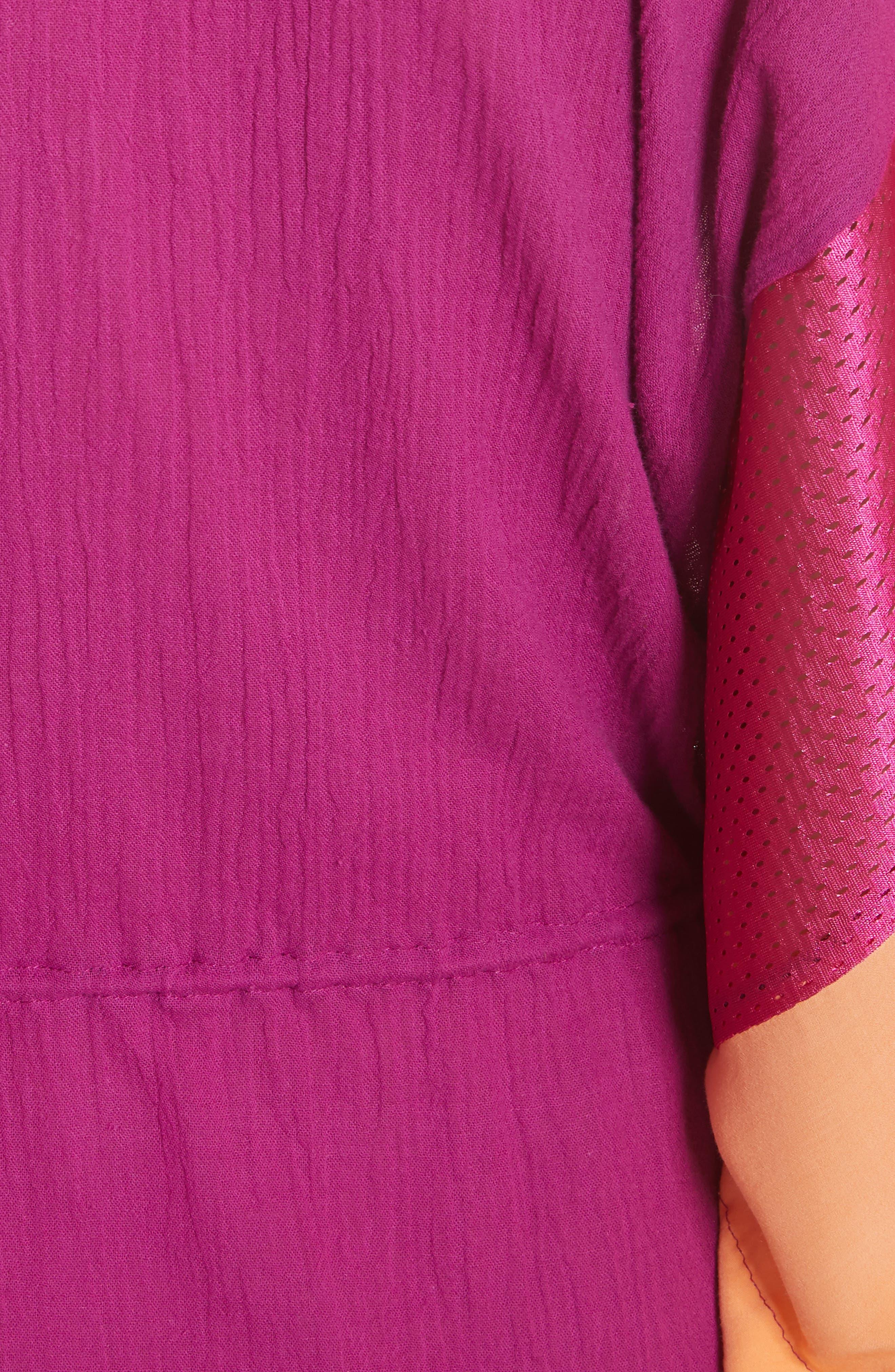 Sun Dance Caftan Dress,                             Alternate thumbnail 5, color,                             Magenta/ Orange