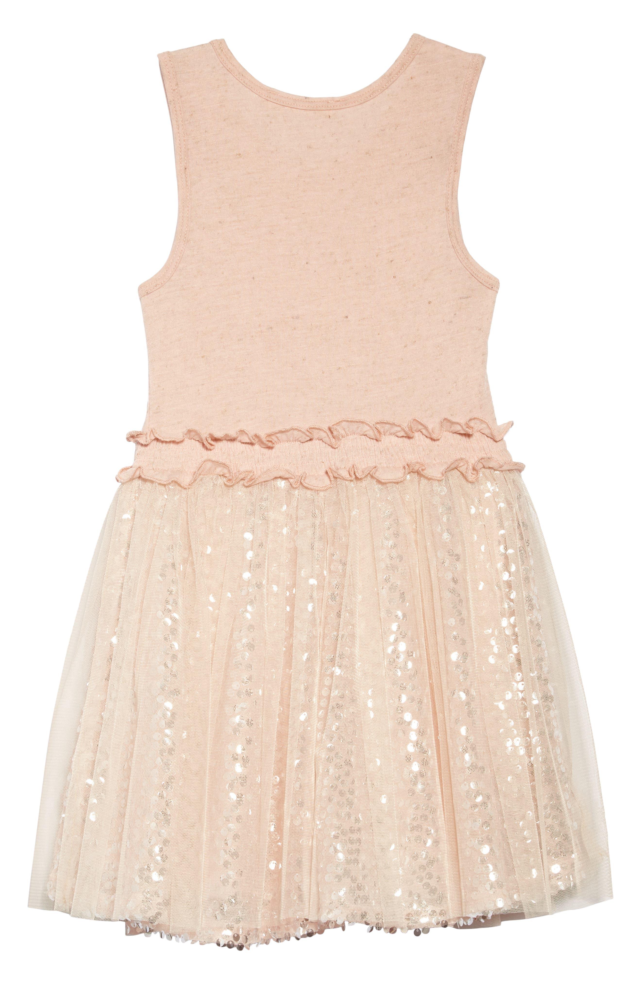 Sequin & Ruffle Dress,                             Alternate thumbnail 2, color,                             Pink