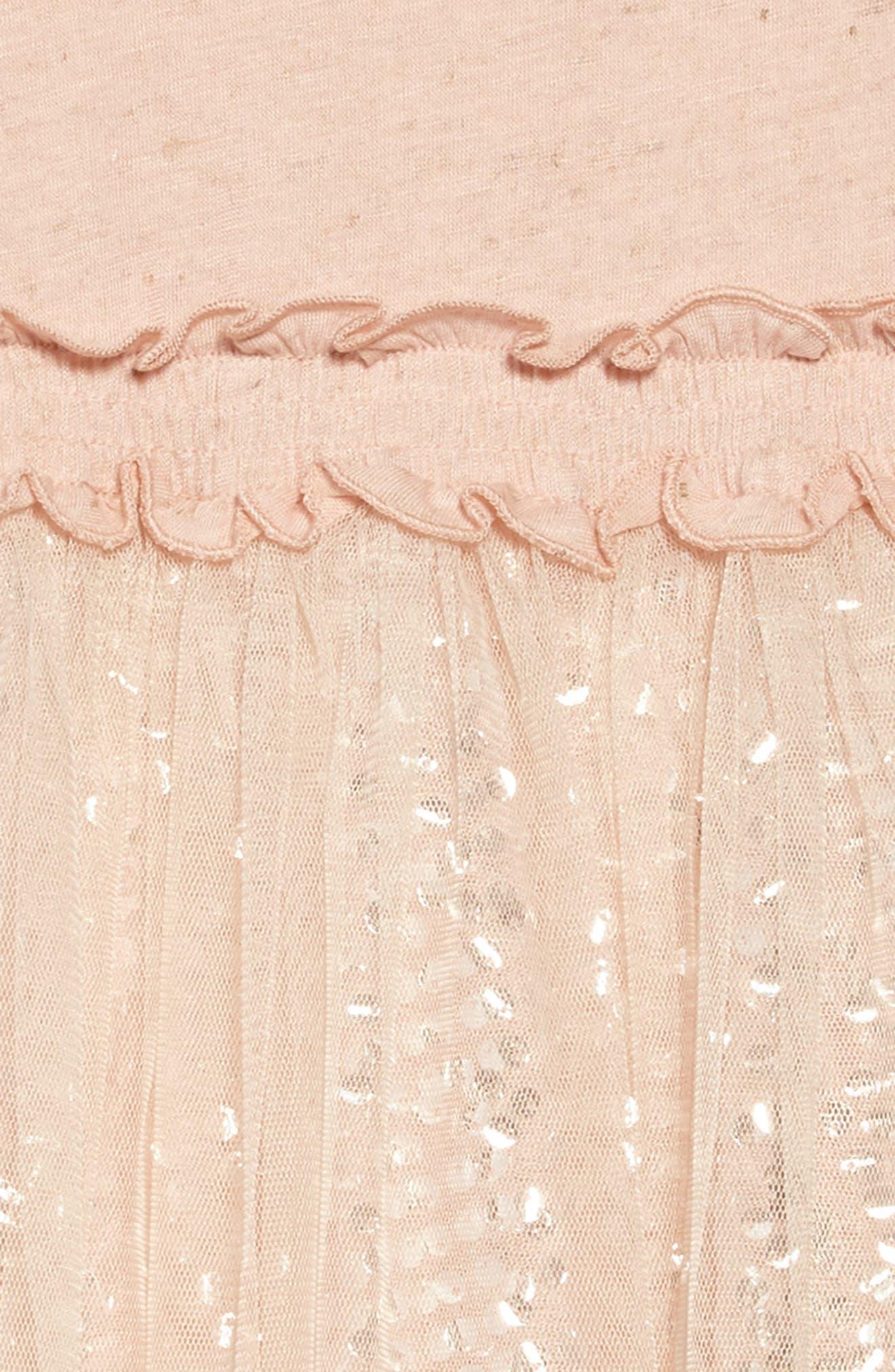 Sequin & Ruffle Dress,                             Alternate thumbnail 3, color,                             Pink