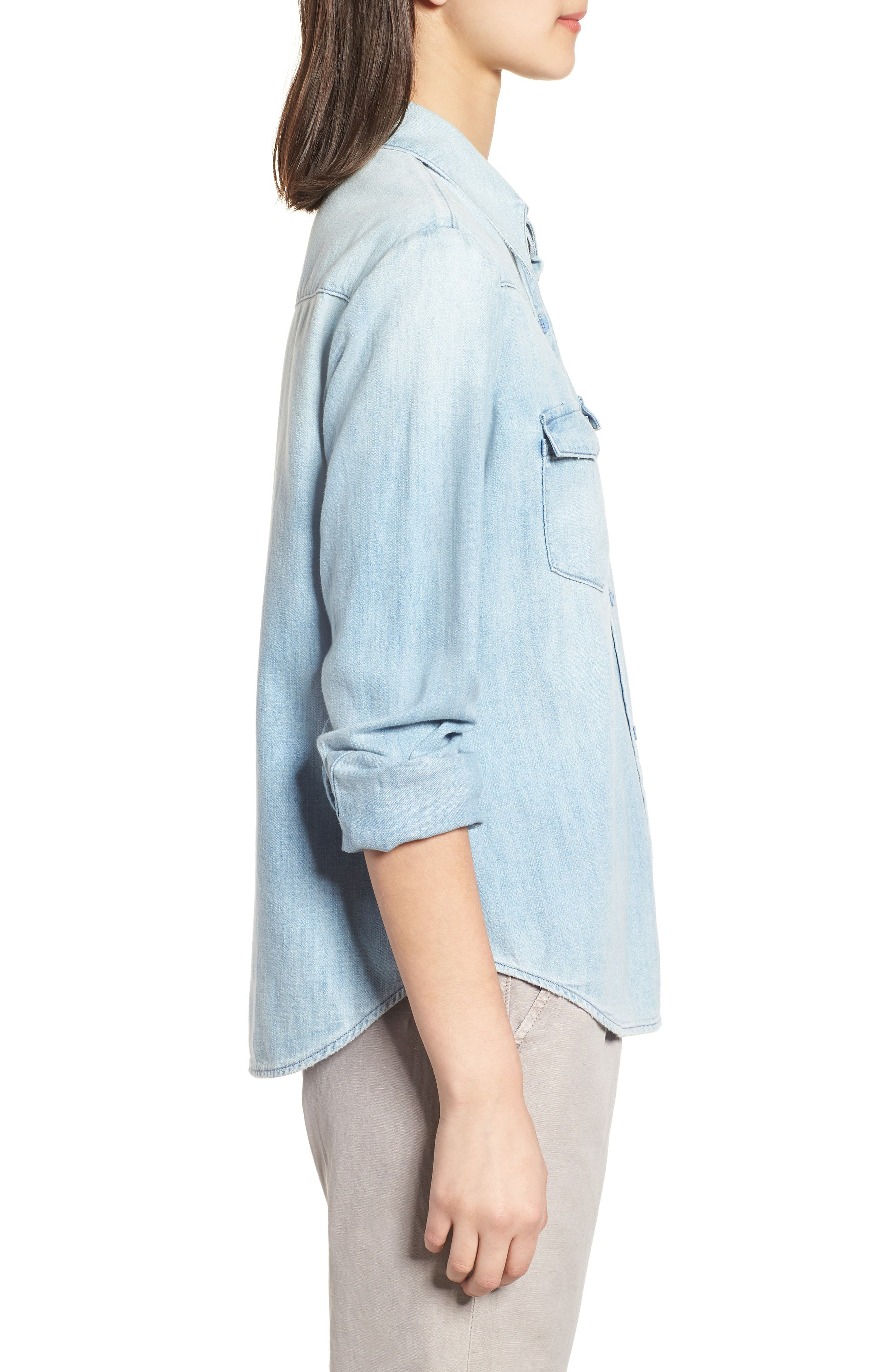 Alternate Image 3  - AG Deanna Denim Shirt