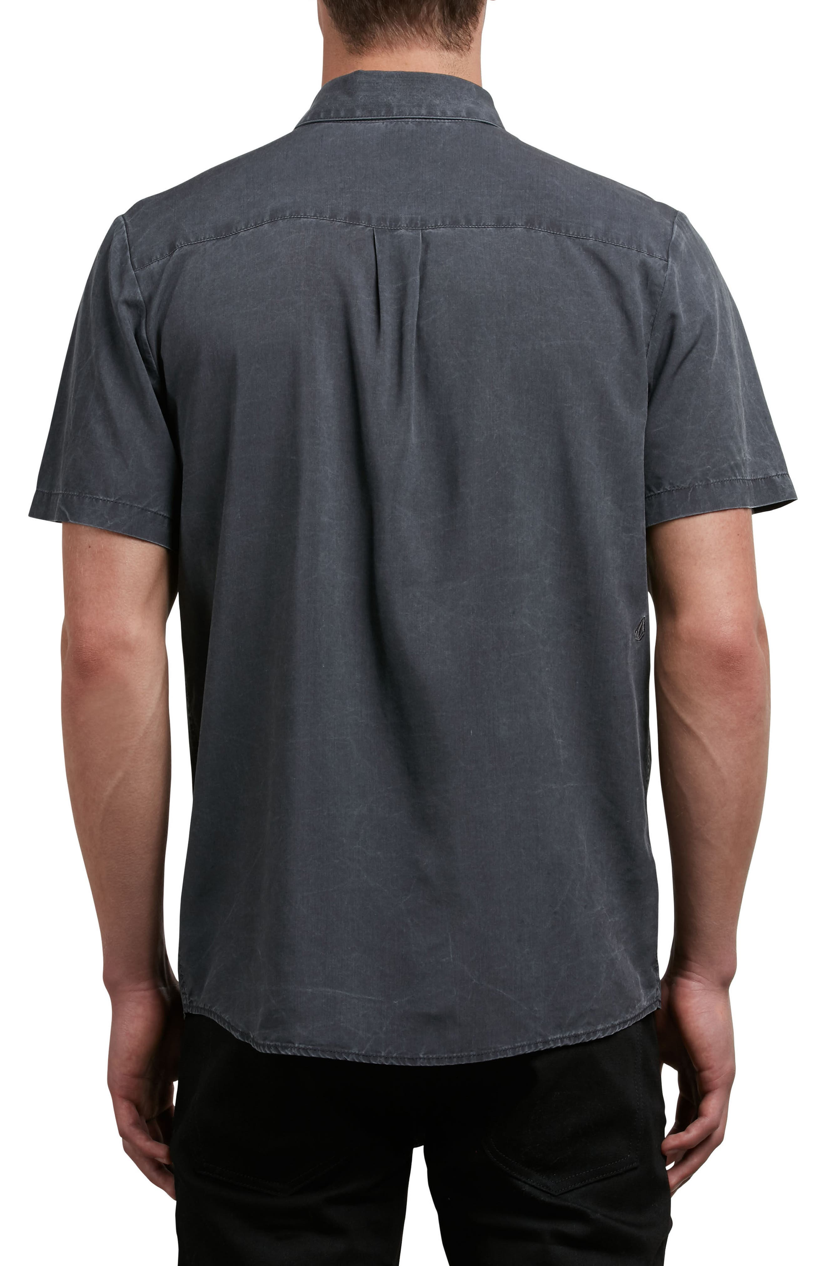 Chill Out Woven Shirt,                             Alternate thumbnail 2, color,                             Black