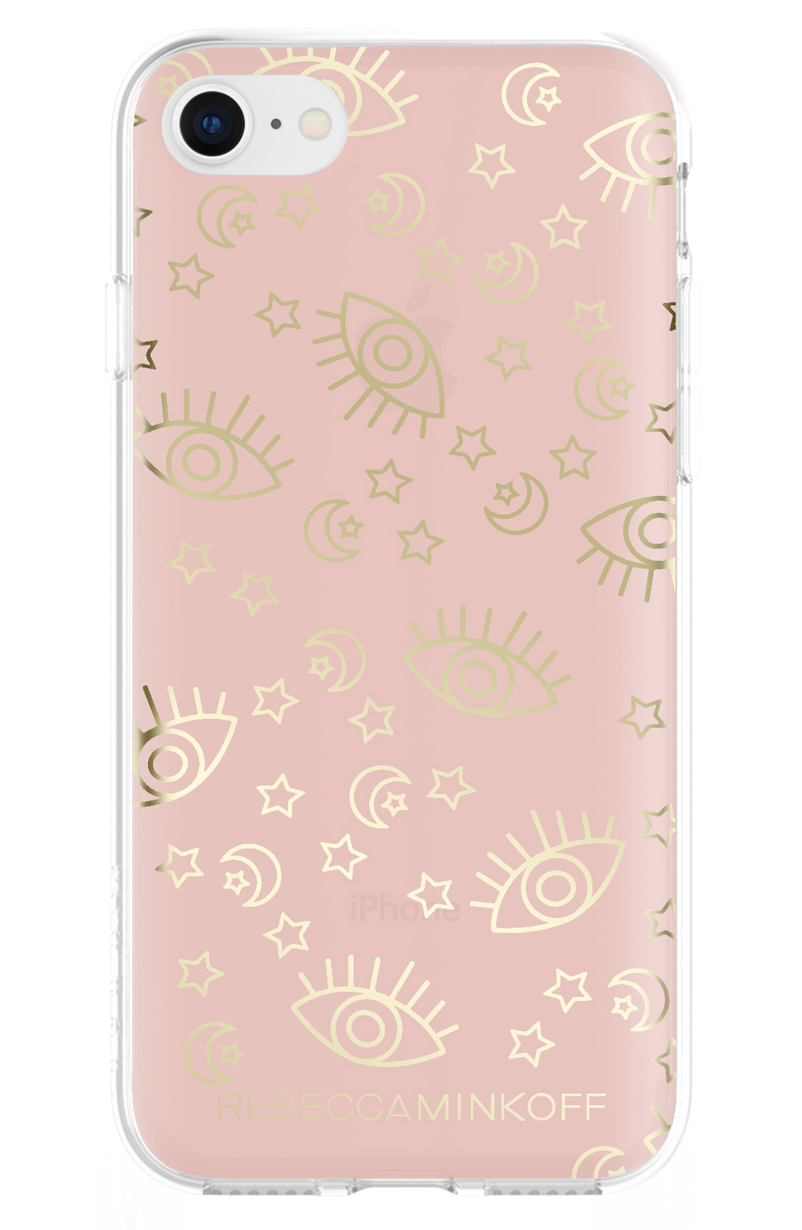 Metallic Galaxy Icon iPhone 7/8 & 7/8 Plus Case,                             Main thumbnail 1, color,                             Rose Gold/ Gold Foil