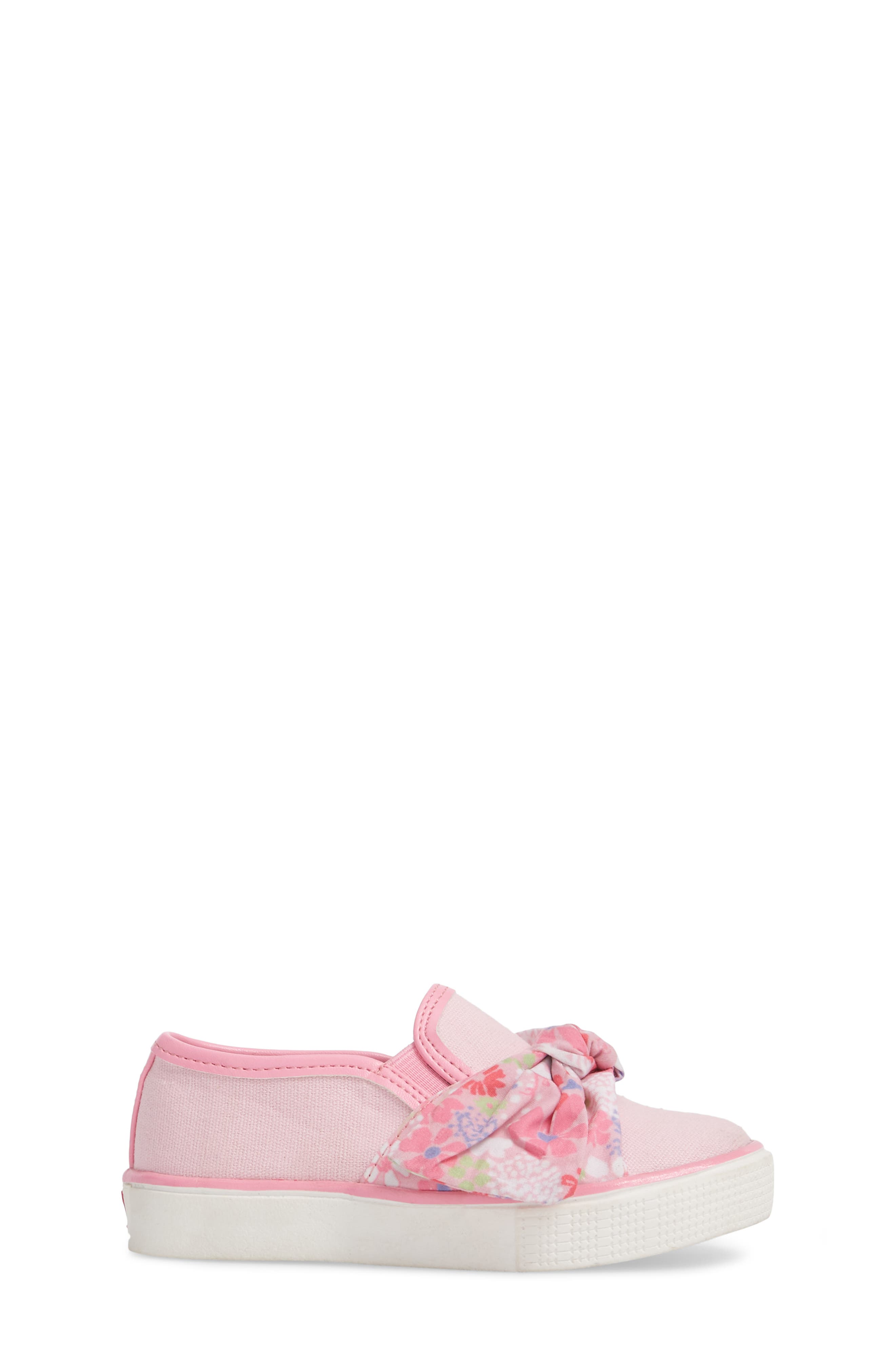 Ashlyn Bow Slip-On Sneaker,                             Alternate thumbnail 4, color,                             Orchid Pink