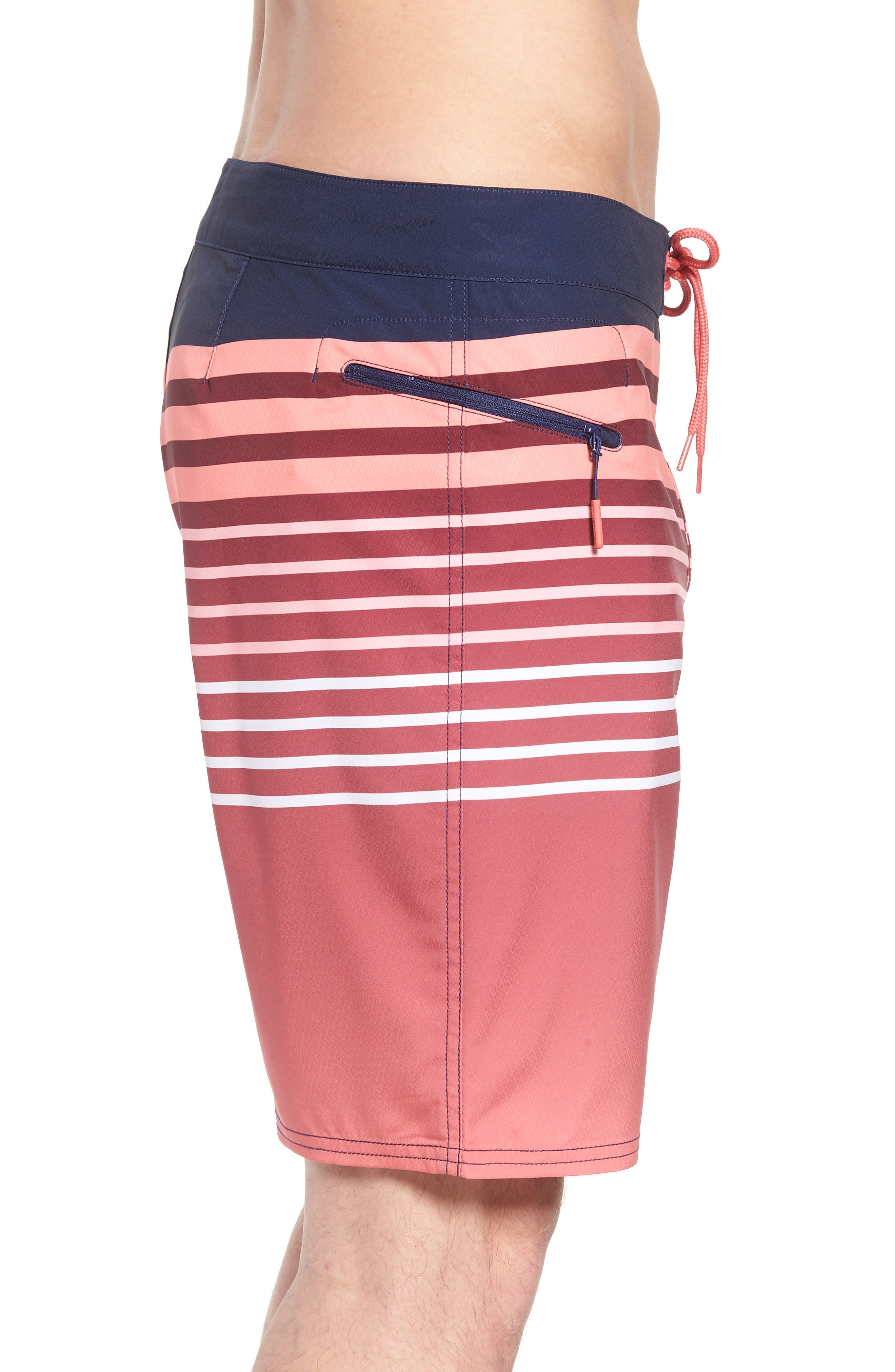 Surflodge Stripe Board Shorts,                             Alternate thumbnail 4, color,                             Jetty Red