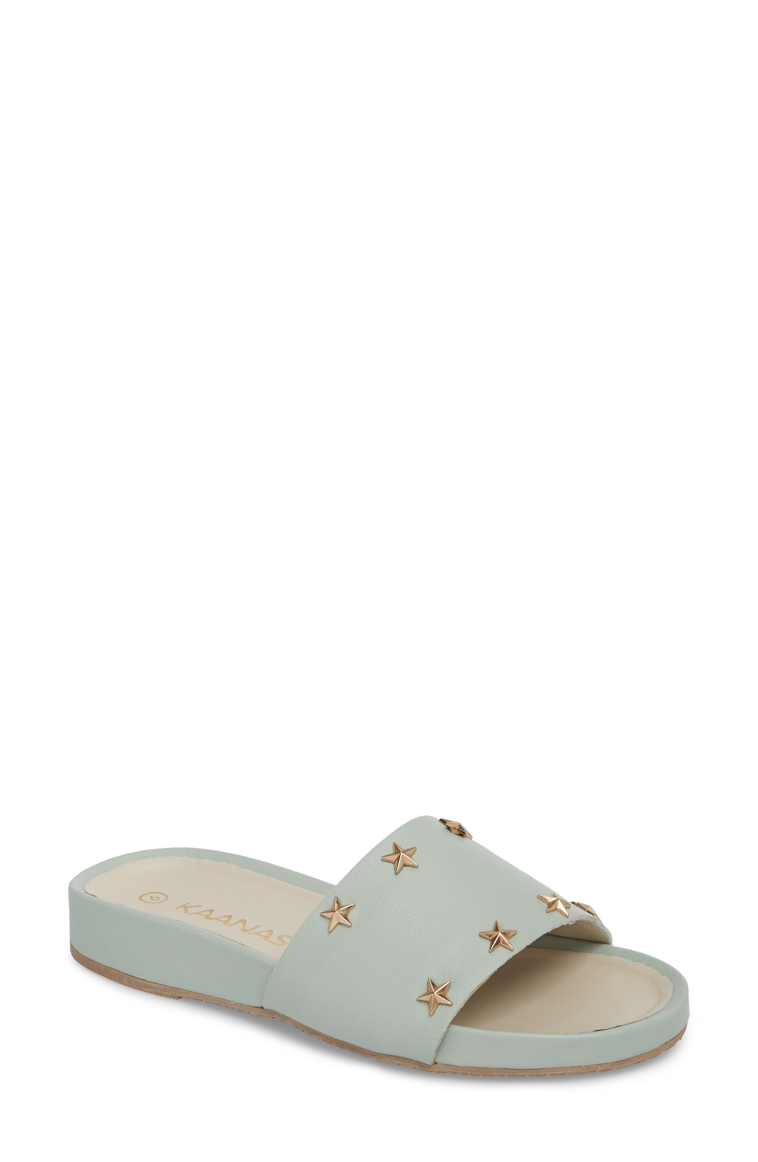 Bodrum Slide Sandal,                             Main thumbnail 1, color,                             Mint