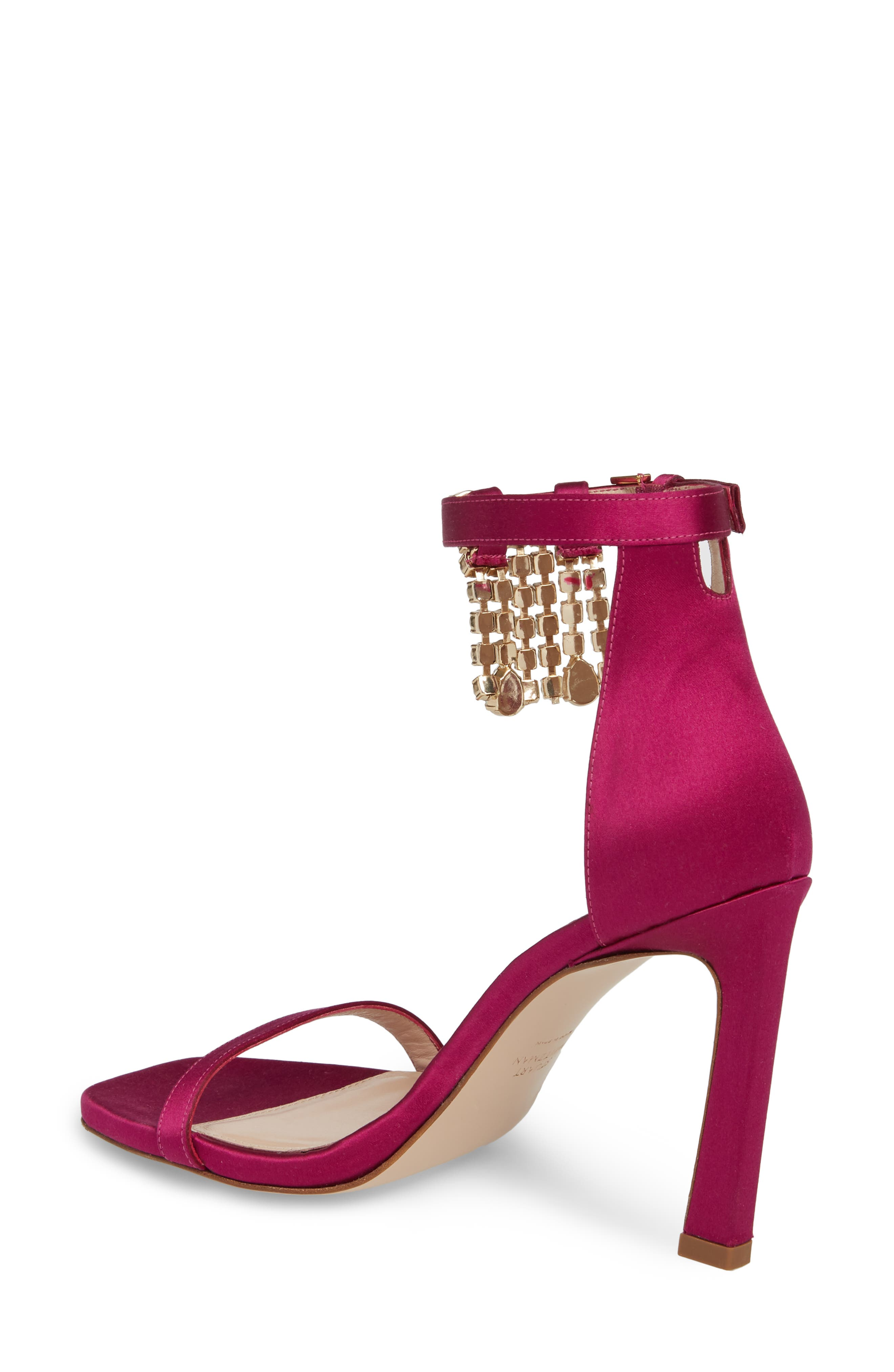 100FRINGESQUARENUDIST Sandal,                             Alternate thumbnail 2, color,                             Grape Silk Satin