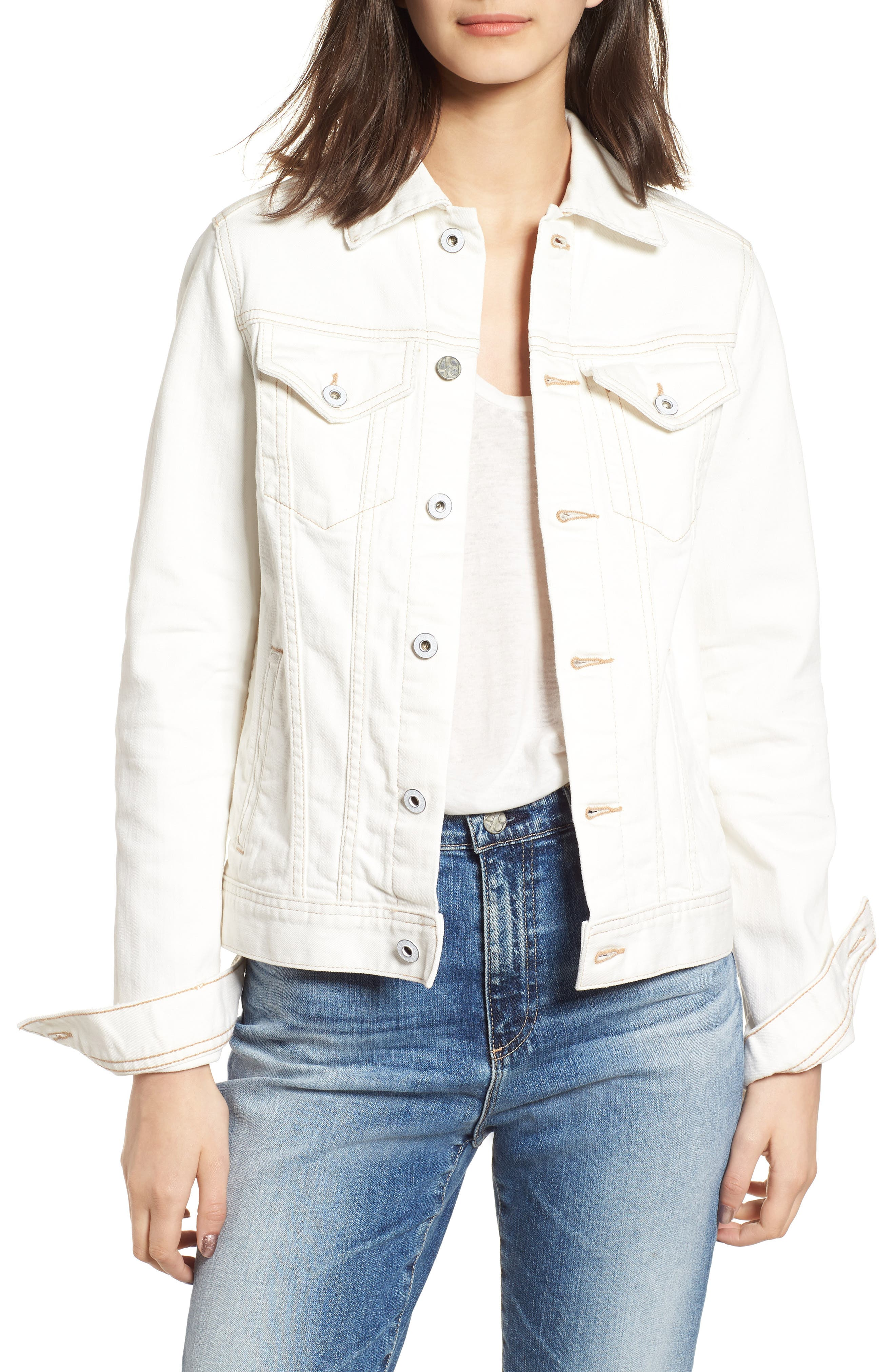 Mya Denim Jacket,                             Main thumbnail 1, color,                             1 Year Neutral White