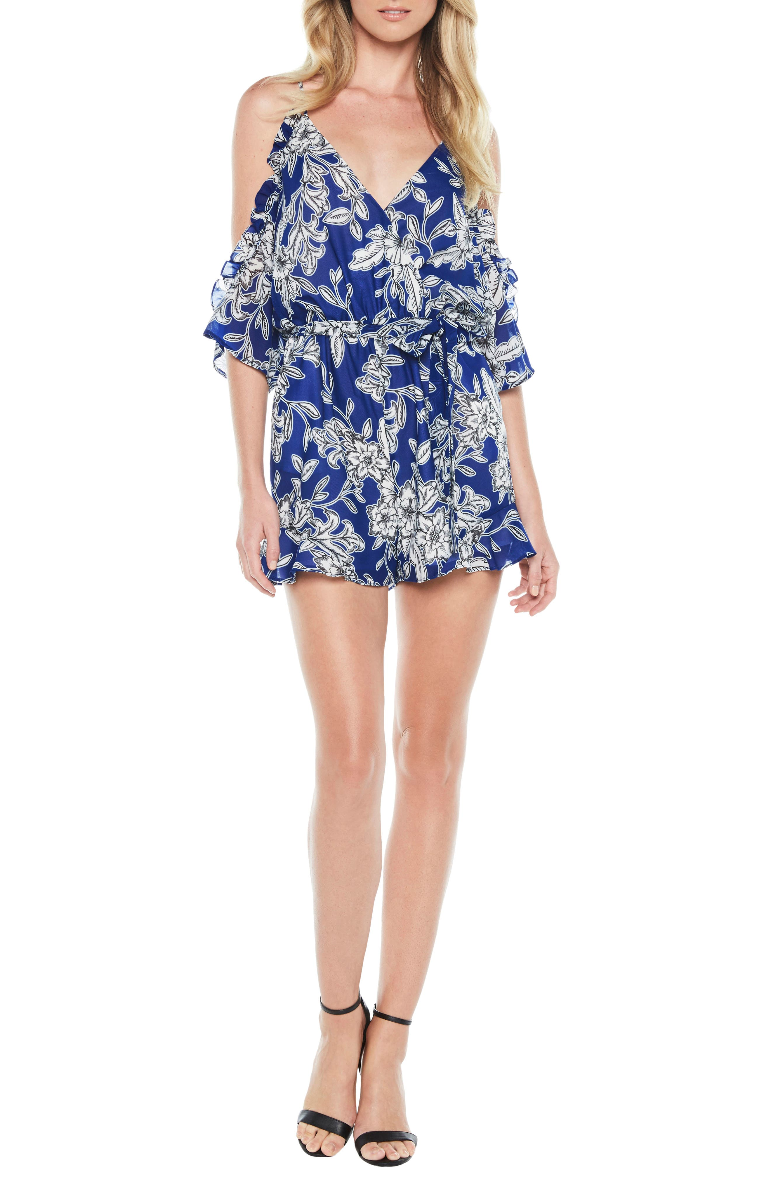 Main Image - Bardot Sicily Cold Shoulder Romper
