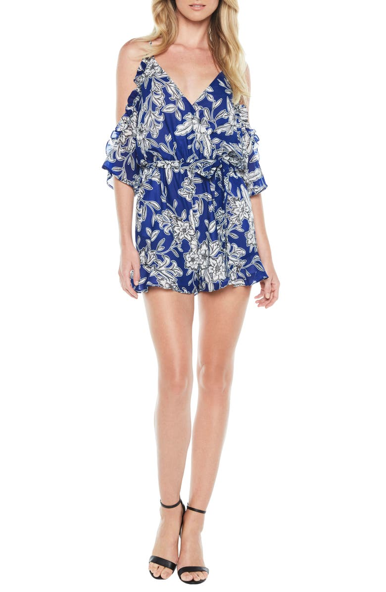 Sicily Cold Shoulder Romper