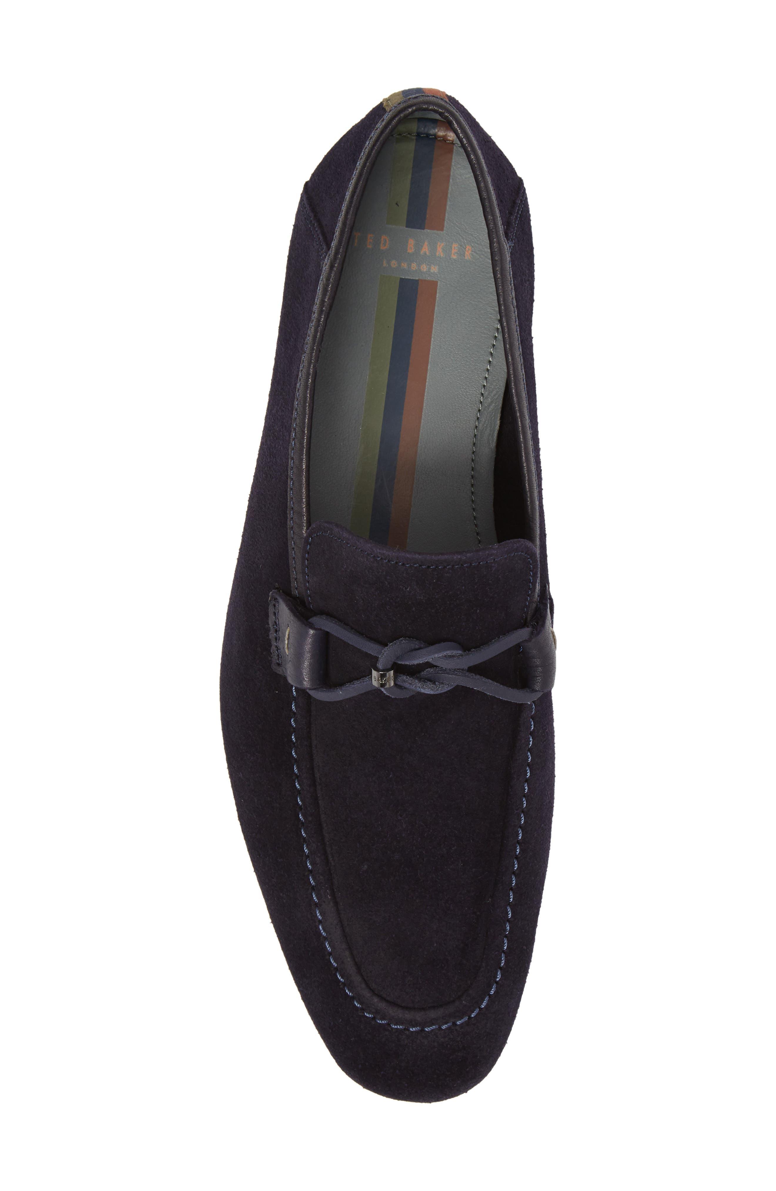 Hoppken Convertible Knotted Loafer,                             Alternate thumbnail 5, color,                             Dark Blue Suede