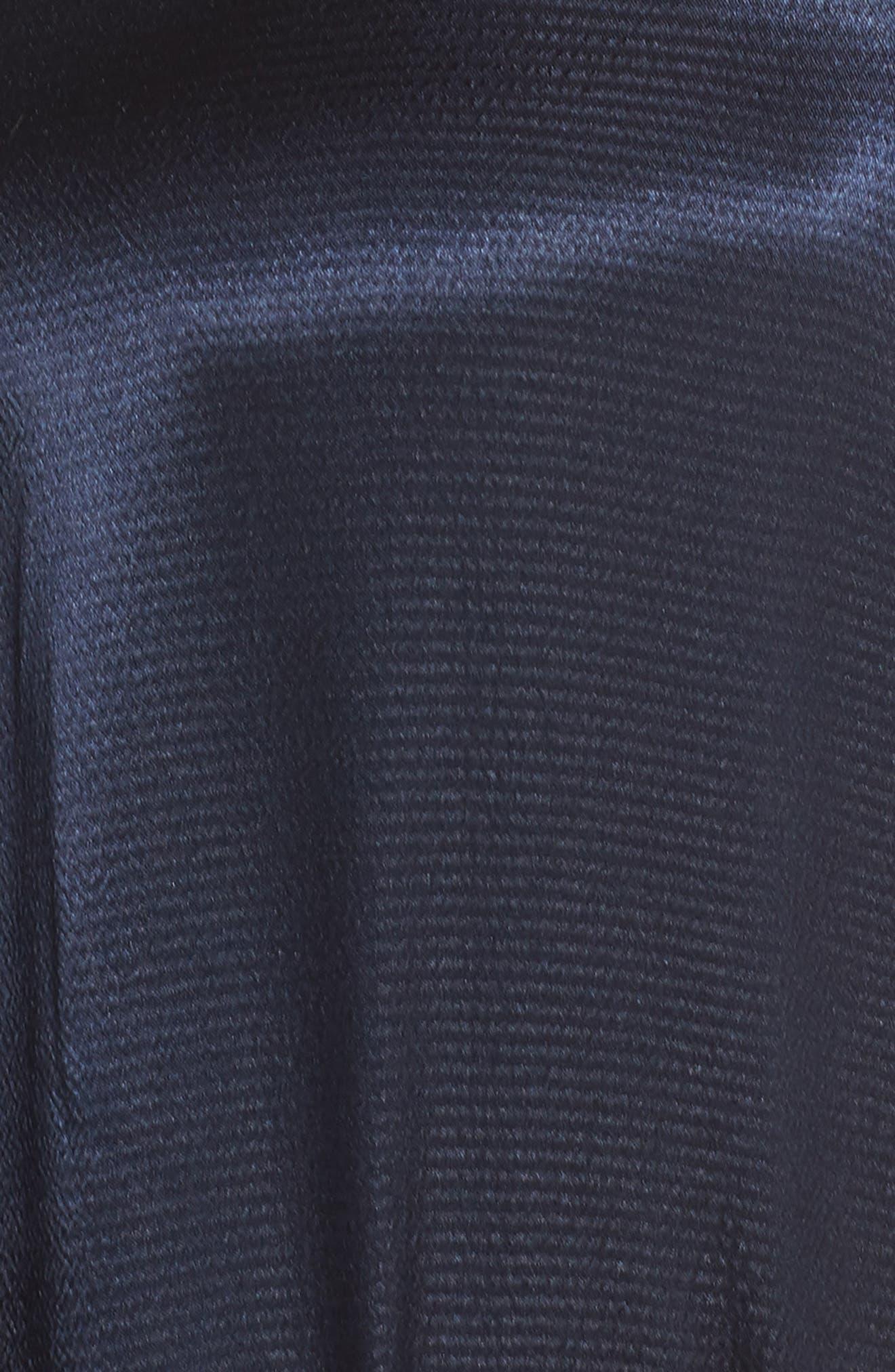 Asymmetrical Sleeveless Trapeze Dress,                             Alternate thumbnail 6, color,                             Blue Moon