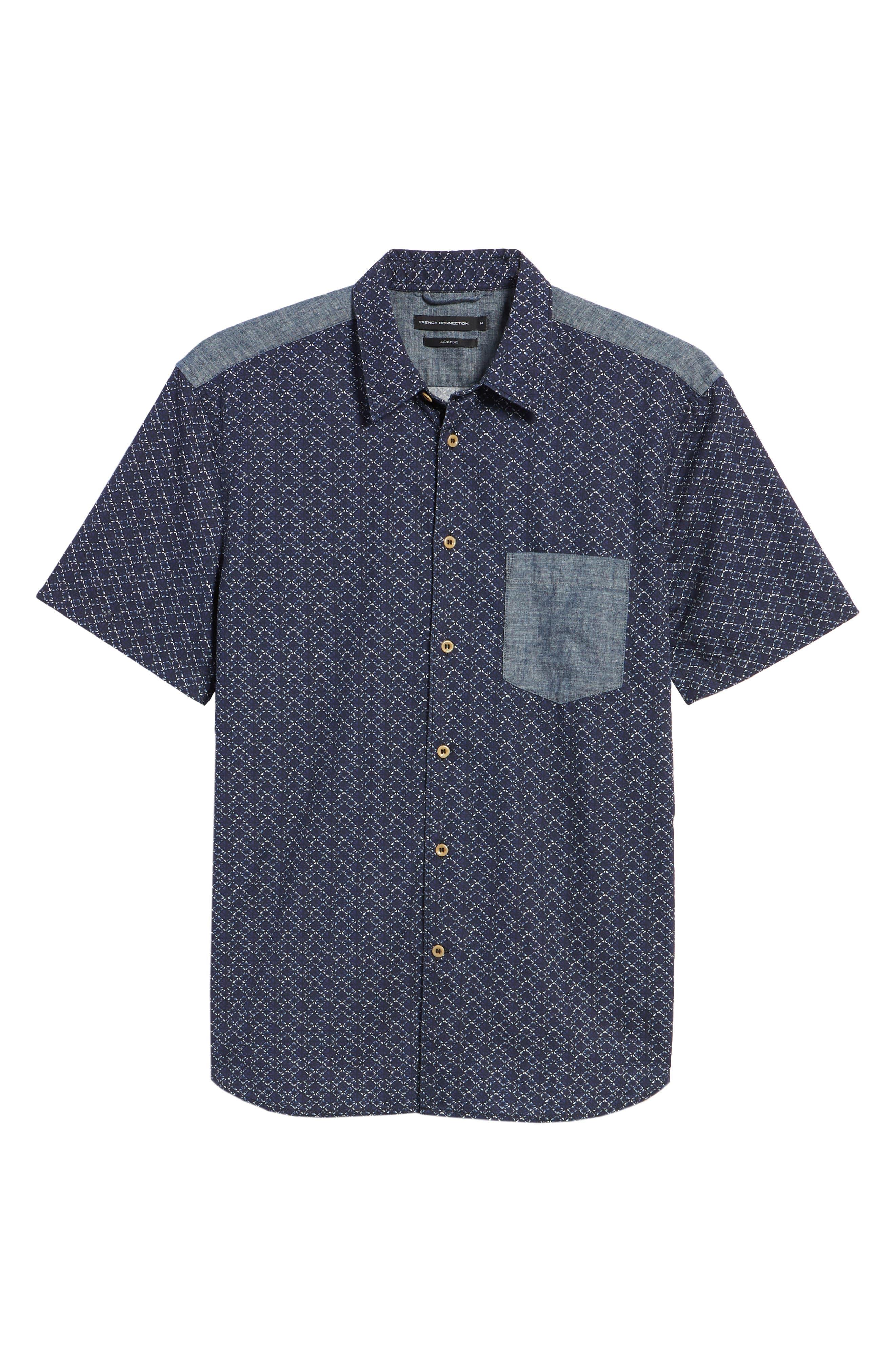 Kast Relaxed Fit Short Sleeve Sport Shirt,                             Alternate thumbnail 6, color,                             Deep Cobalt