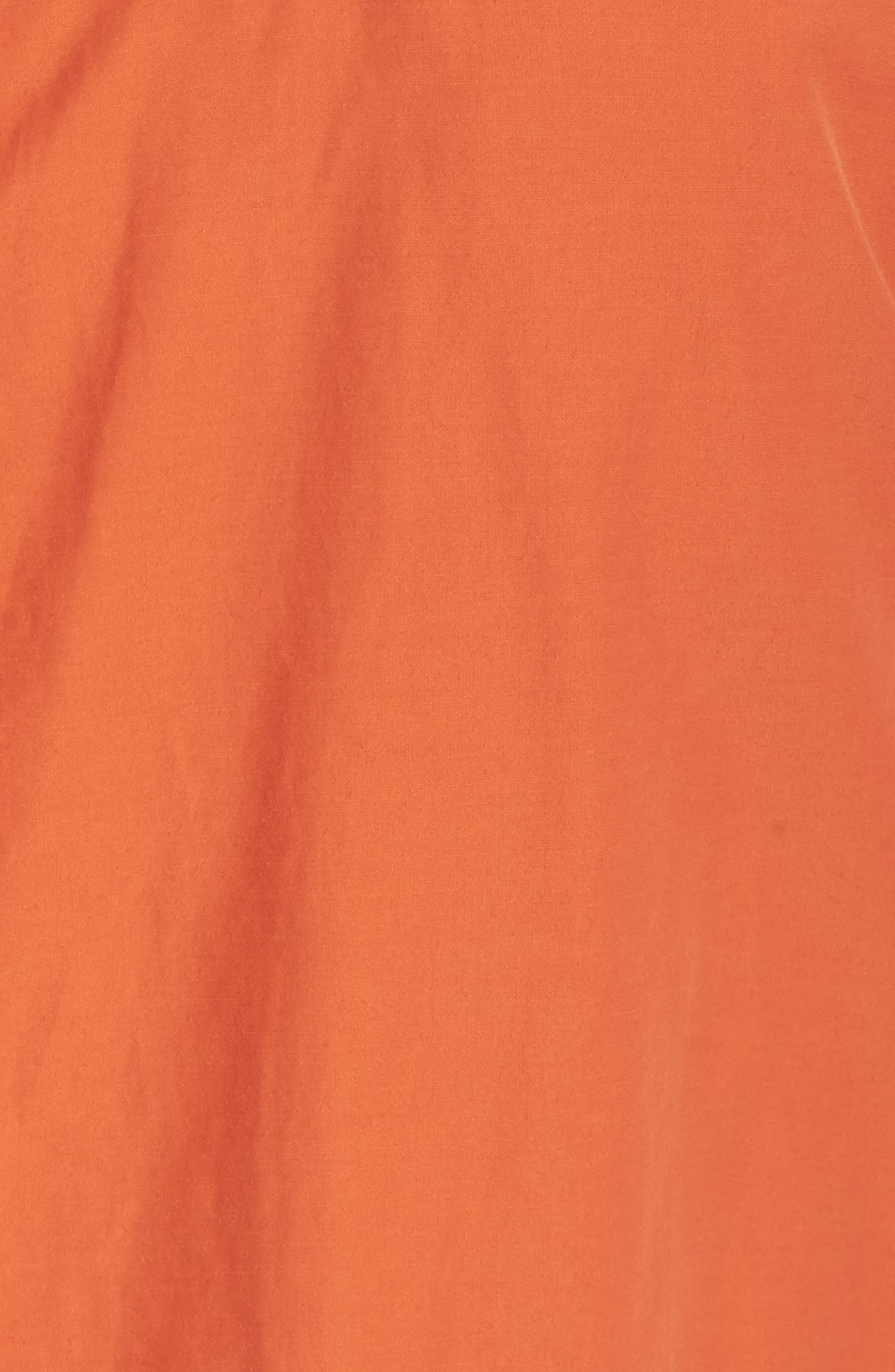 Hooded Organic Cotton Blend Jacket,                             Alternate thumbnail 5, color,                             Tiger